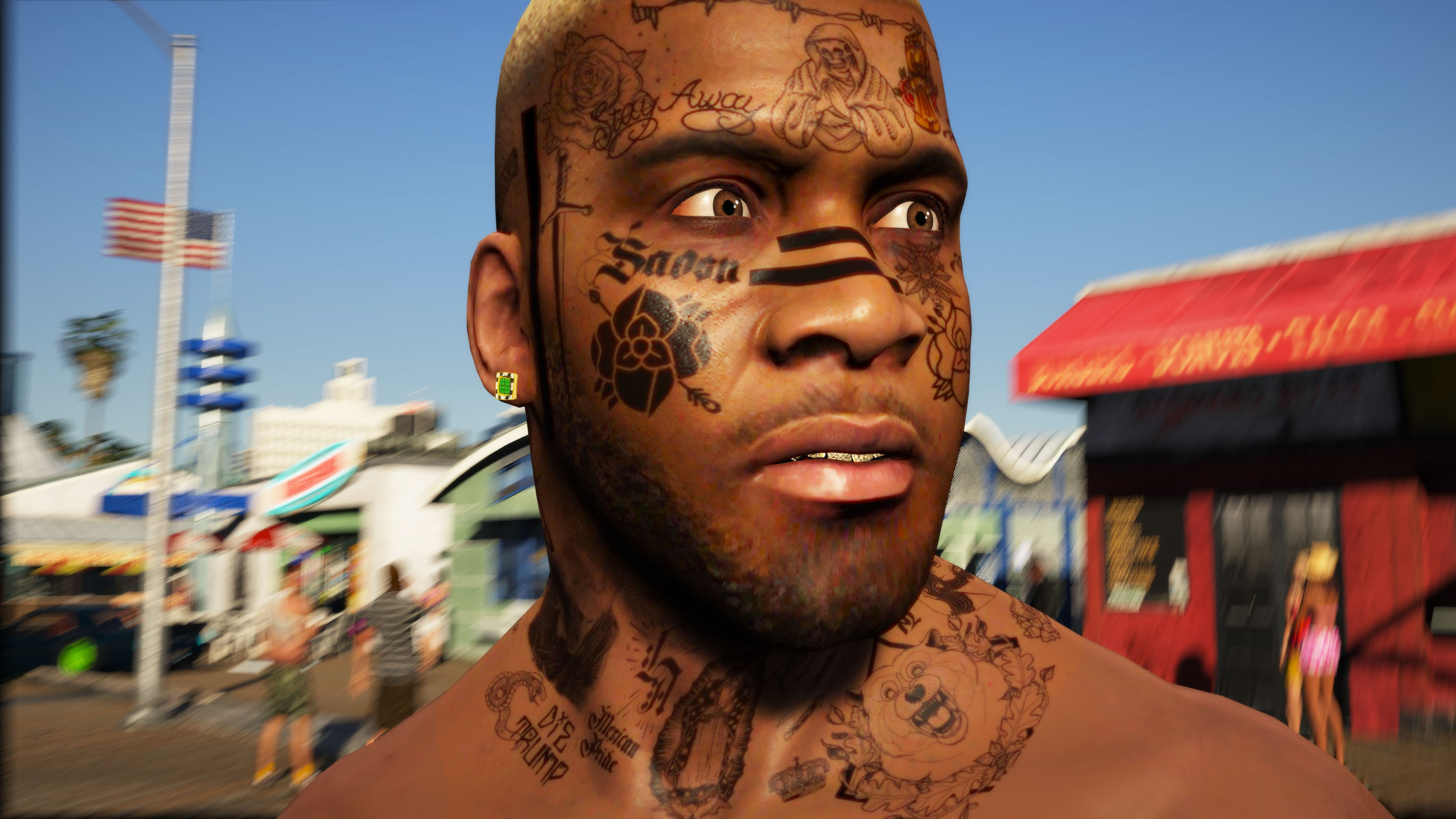 Hd Face Tattoos For Franklin Post Malone Esque Gta5