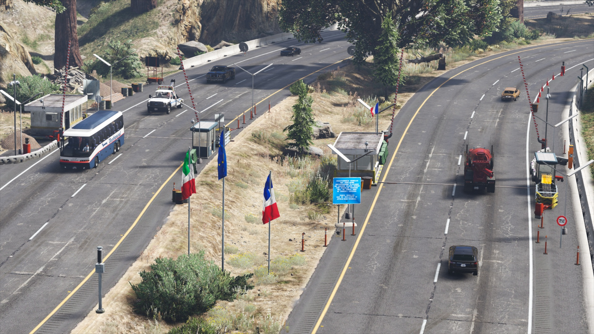 Highway DUI Checkpoint - Border Map [Menyoo | YMAP] - GTA5