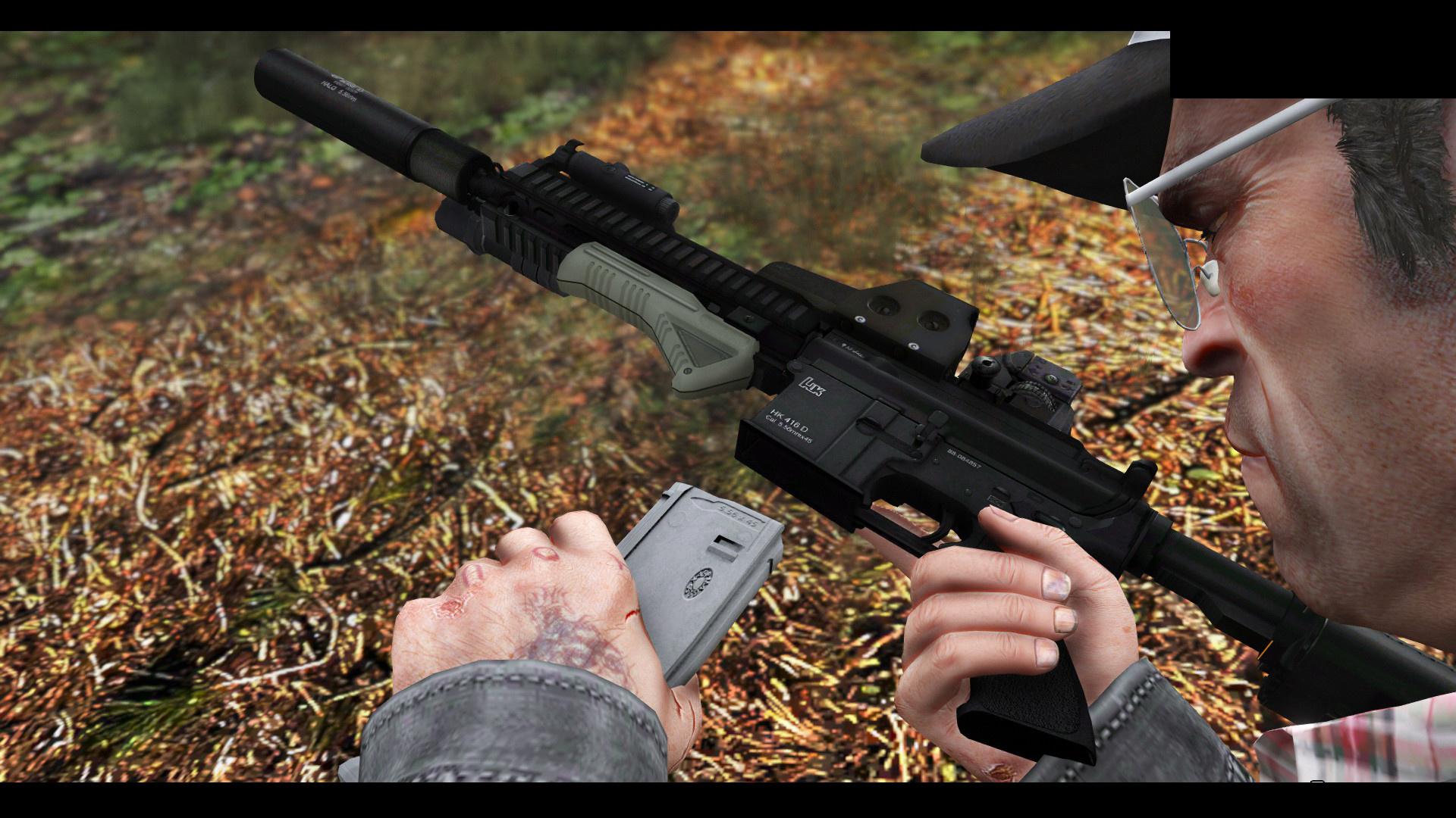 HK416 Full Attachments & Animated - GTA5-Mods com