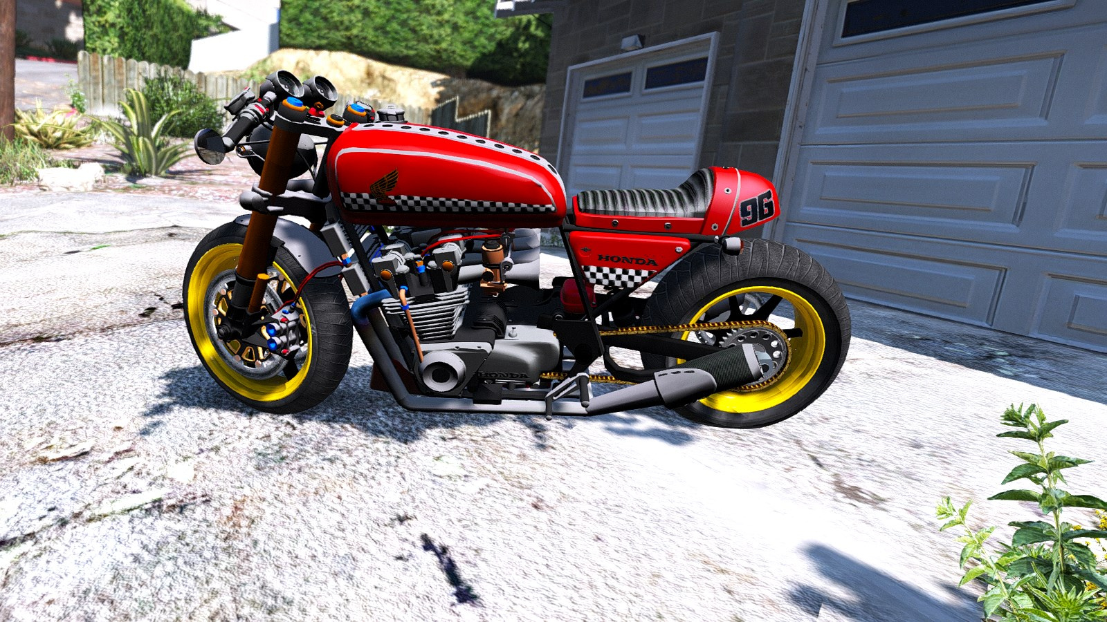 Honda CB750 Cafe Racer Animated