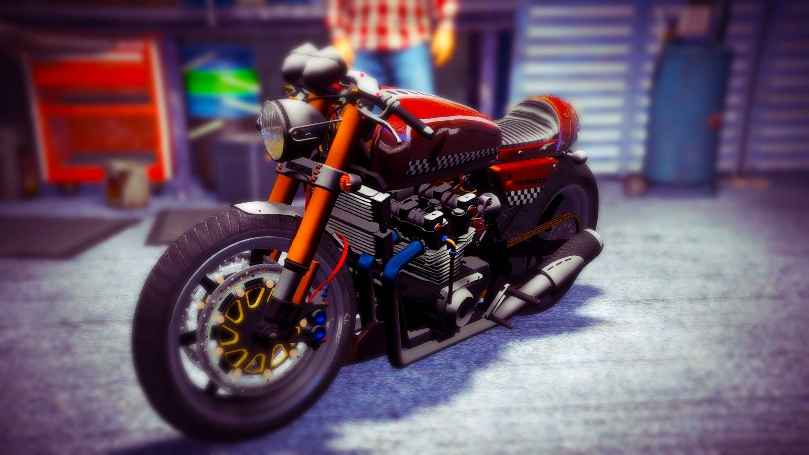 Honda Cb750 Cafe Racer Animated Gta5 Mods Com