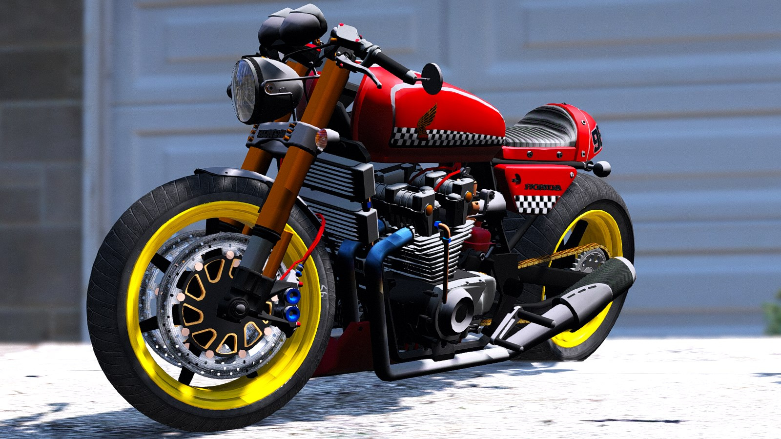 honda cb750 cafe racer animated gta5. Black Bedroom Furniture Sets. Home Design Ideas