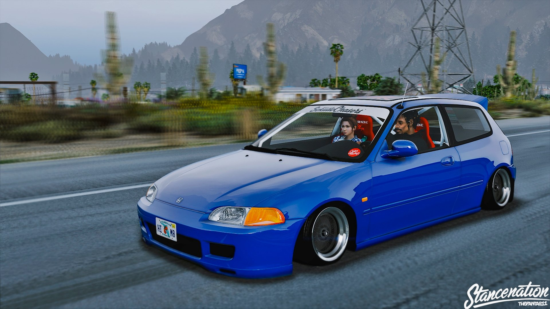 honda civic eg6 stance tuning replace gta5. Black Bedroom Furniture Sets. Home Design Ideas