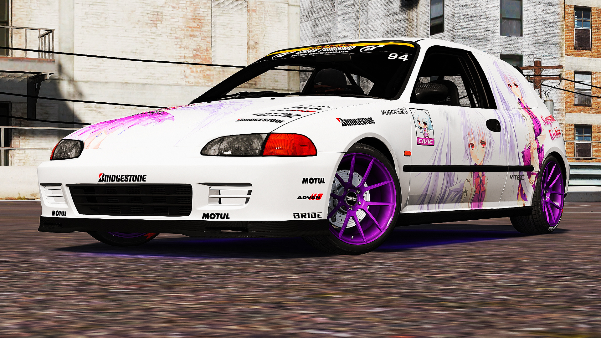 honda civic sir eg6 itasha livery gta5. Black Bedroom Furniture Sets. Home Design Ideas