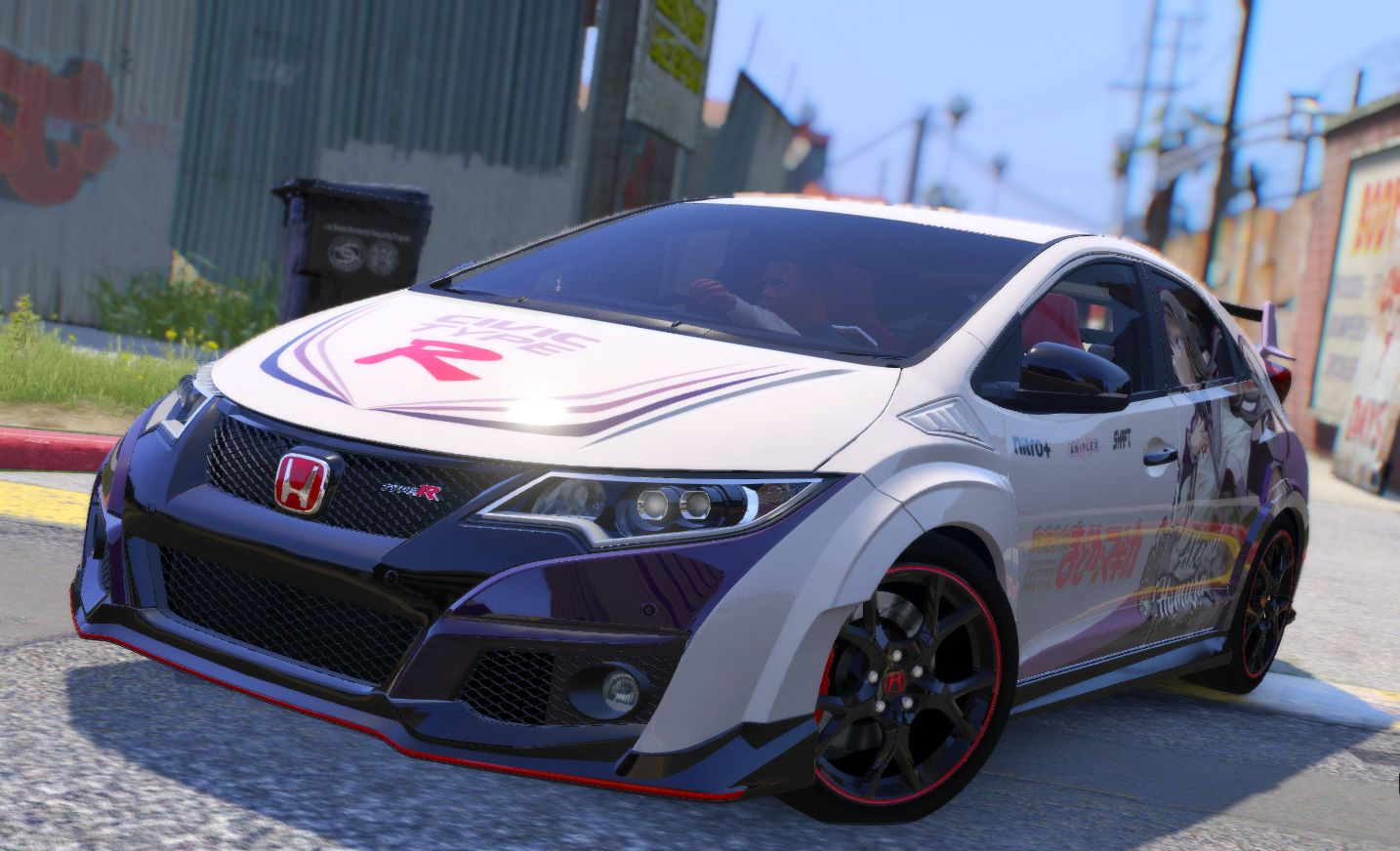 honda civic type r fk2 itasha gta5. Black Bedroom Furniture Sets. Home Design Ideas