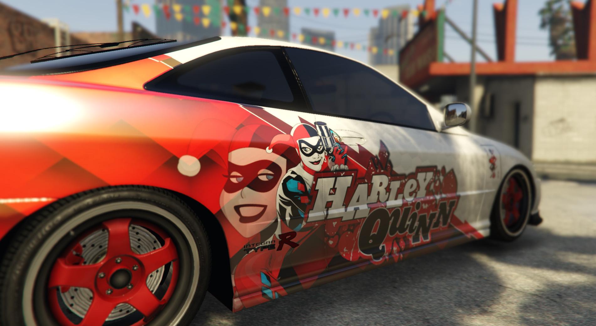 Honda Integra Harley Quinn Livery Gta5 Mods Com
