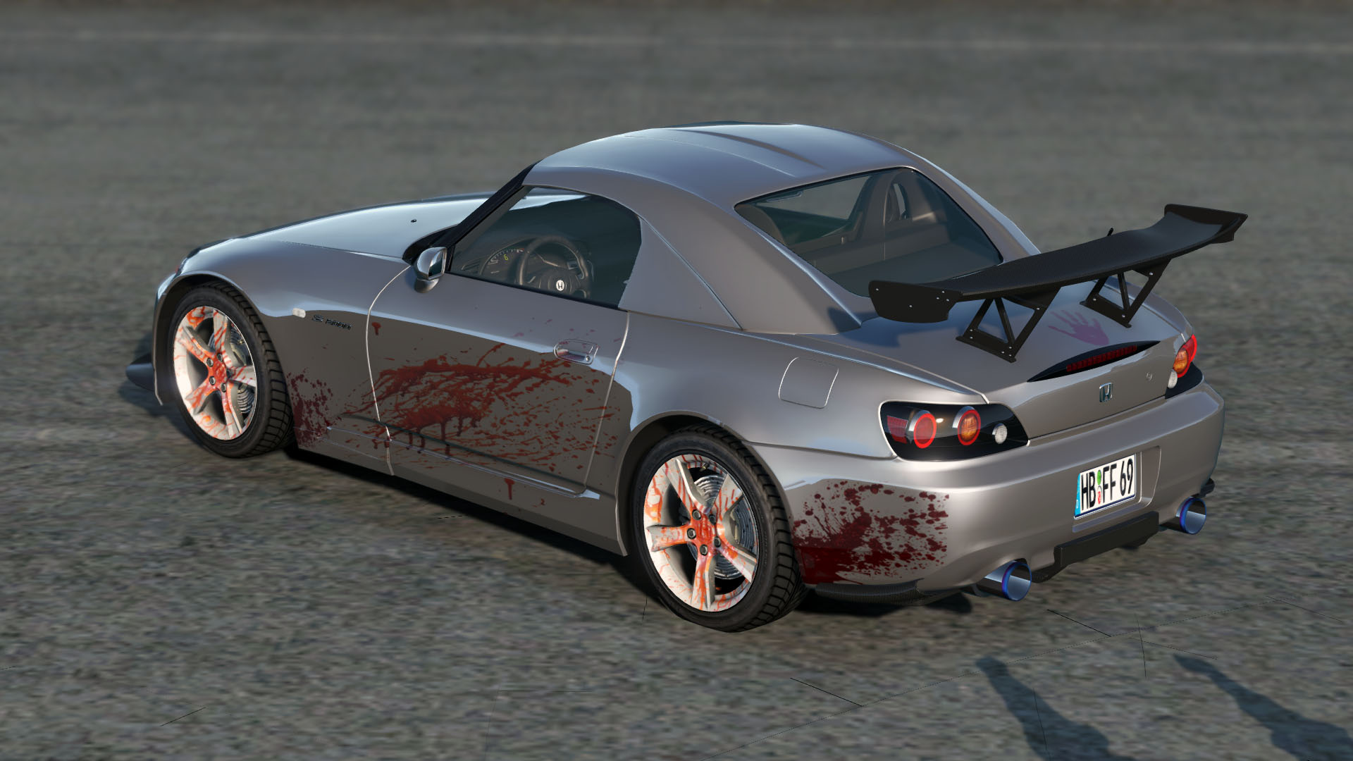 honda s2000 ap2 bloody monster livery gta5. Black Bedroom Furniture Sets. Home Design Ideas