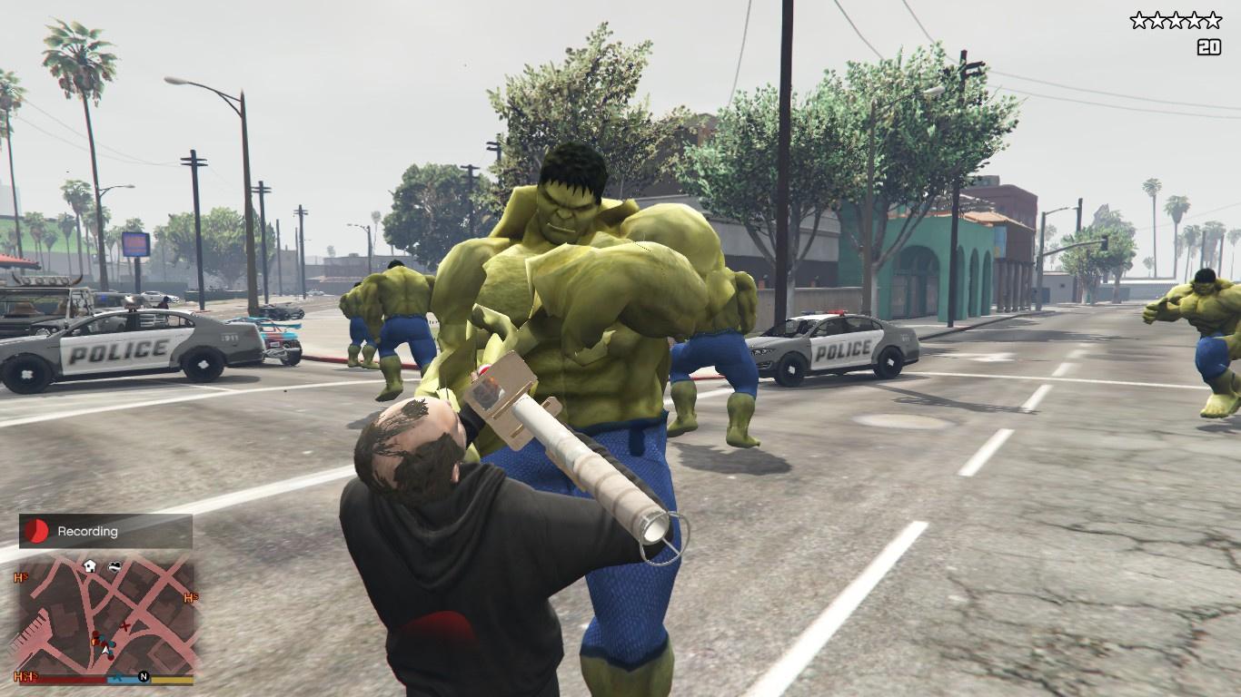 Unarmed/Stronger Hulk Cops & SWAT [OIV] - GTA5-Mods com