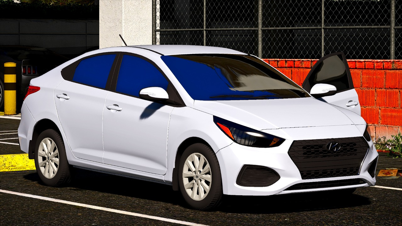hyundai accent 2018 se 3 versions replace gta5. Black Bedroom Furniture Sets. Home Design Ideas