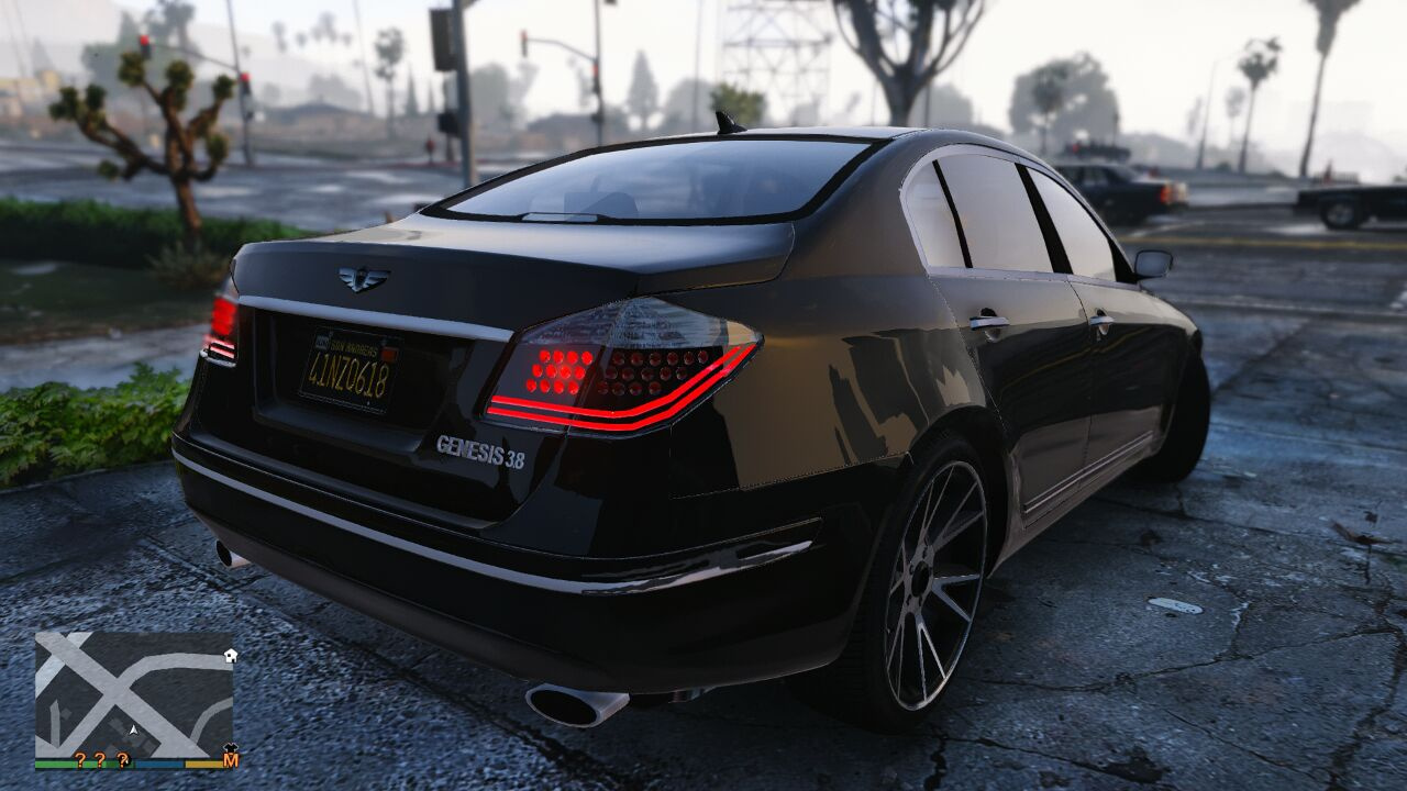 2009 hyundai genesis v6 sedan gta5. Black Bedroom Furniture Sets. Home Design Ideas