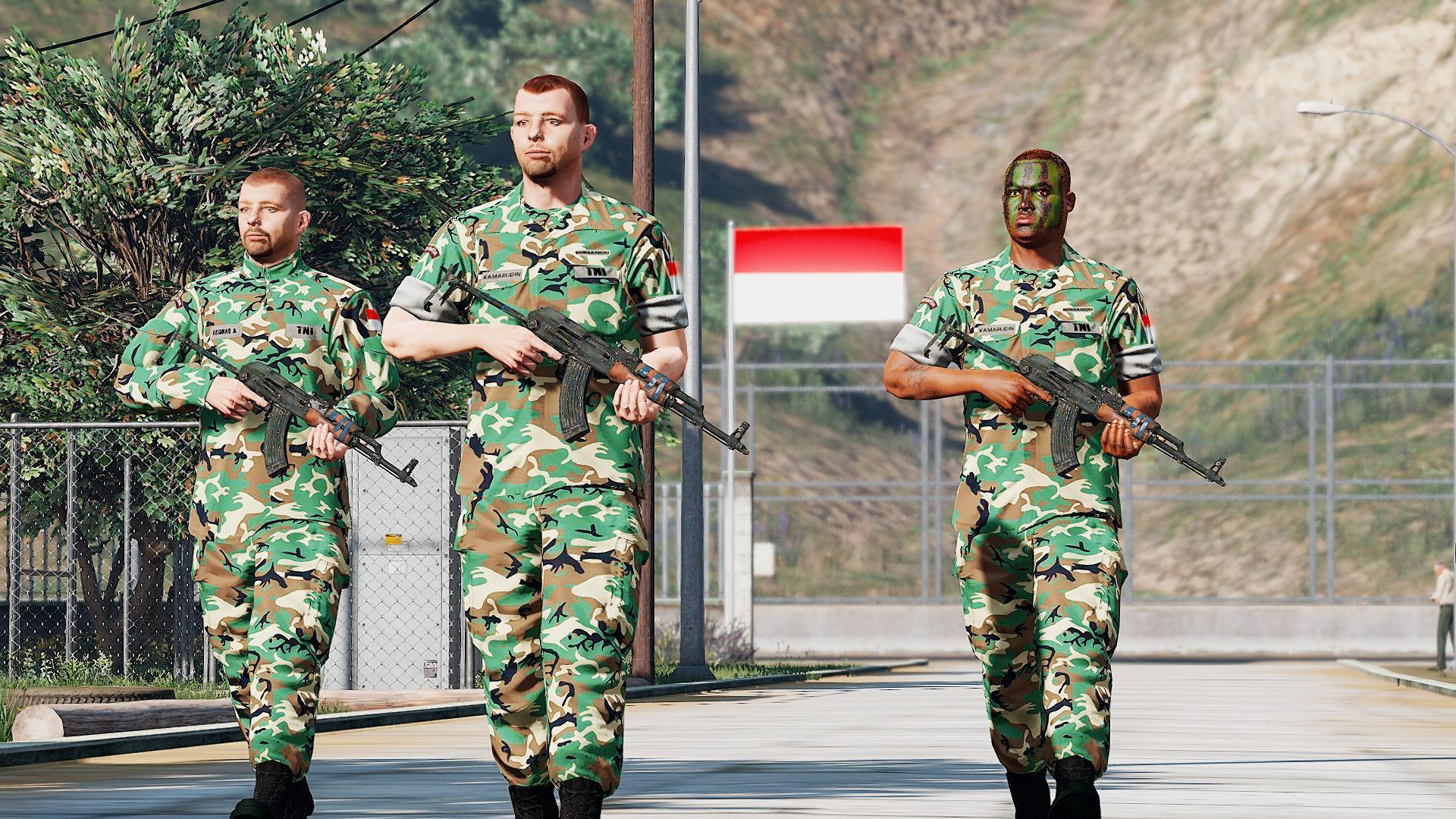 Indonesian National Army Uniform - GTA5-Mods.com