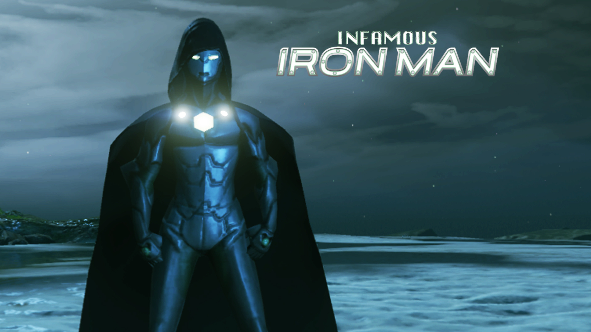 A poster  of Infamous Iron Man