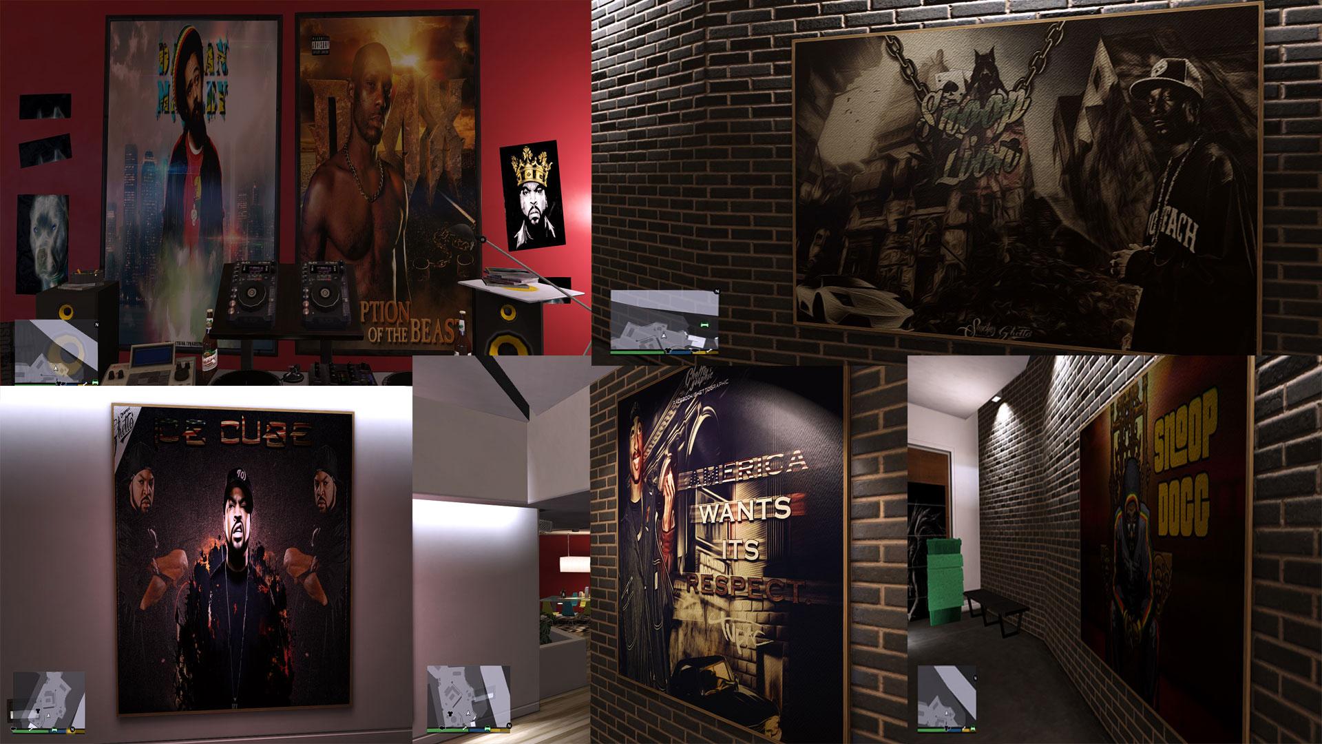 Interior Paintings For Franklin Michael And Trevor Gta5 Mods Com