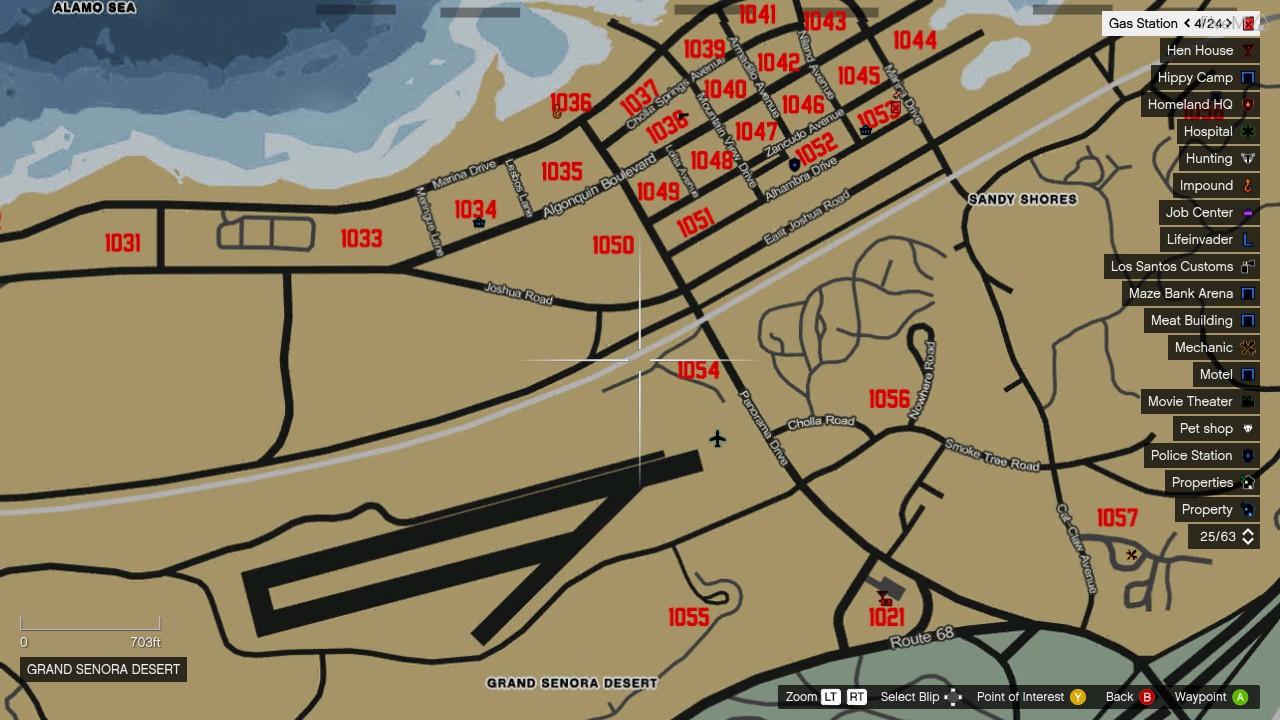 fivem gta 5 postal code map