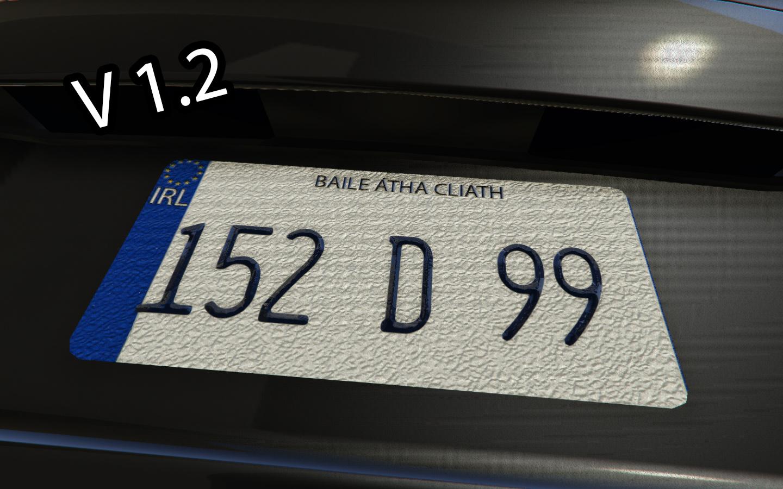 irish number plate mod gta5. Black Bedroom Furniture Sets. Home Design Ideas