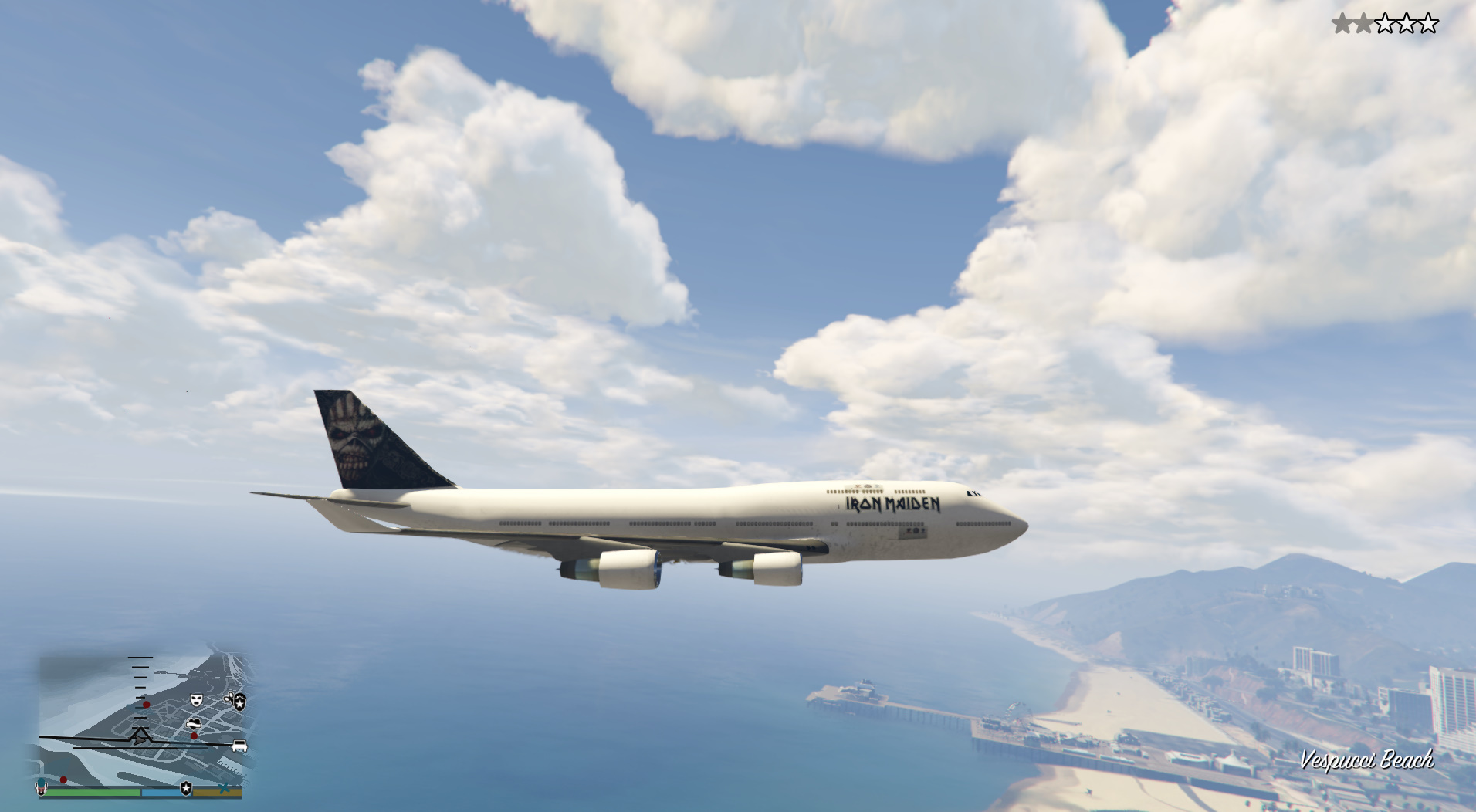 iron maiden ed force one the book of souls world tour 2016 edition gta5. Black Bedroom Furniture Sets. Home Design Ideas