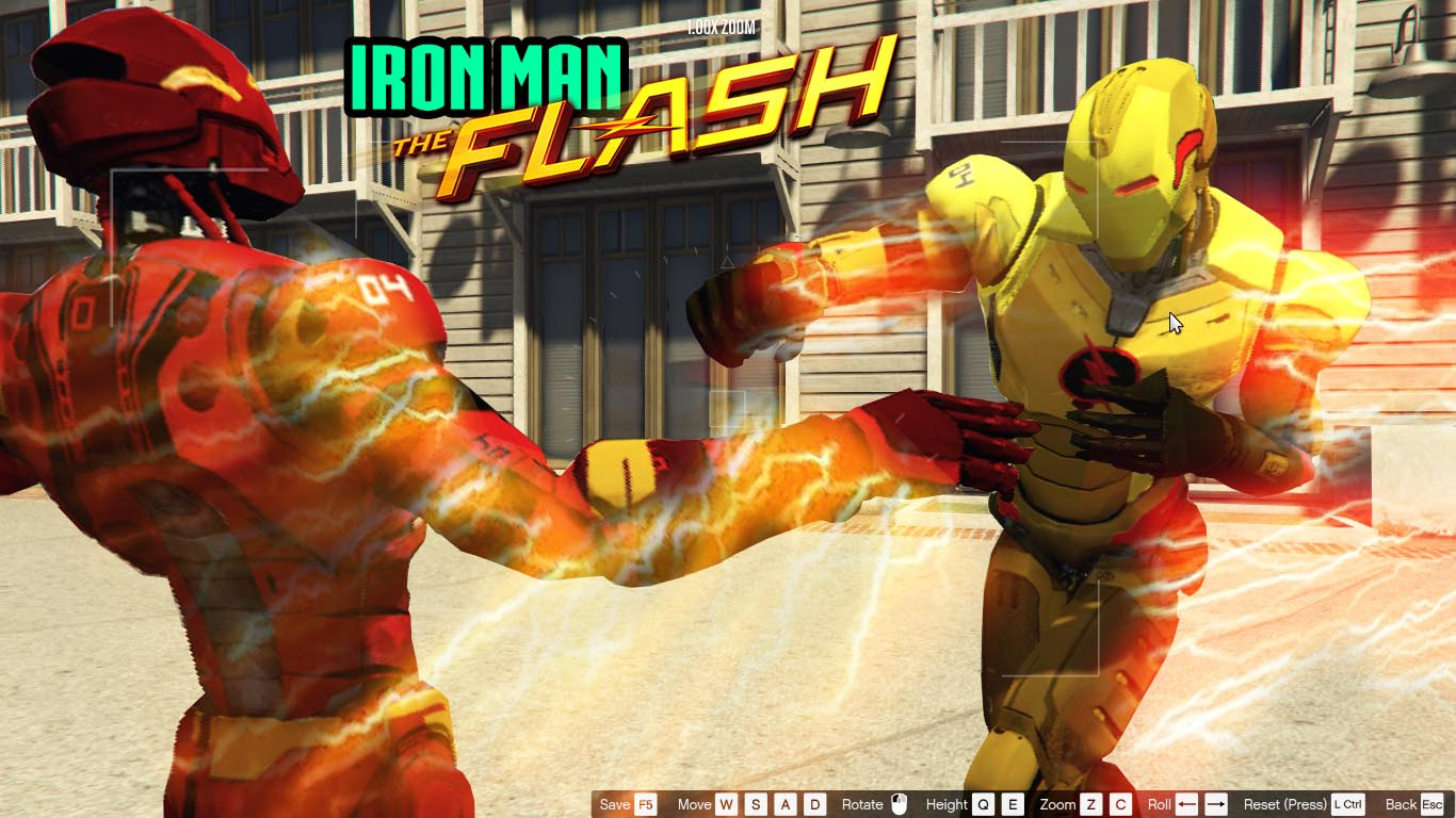 IRON MAN - FLASH+REVERSE FLASH - GTA5-Mods com