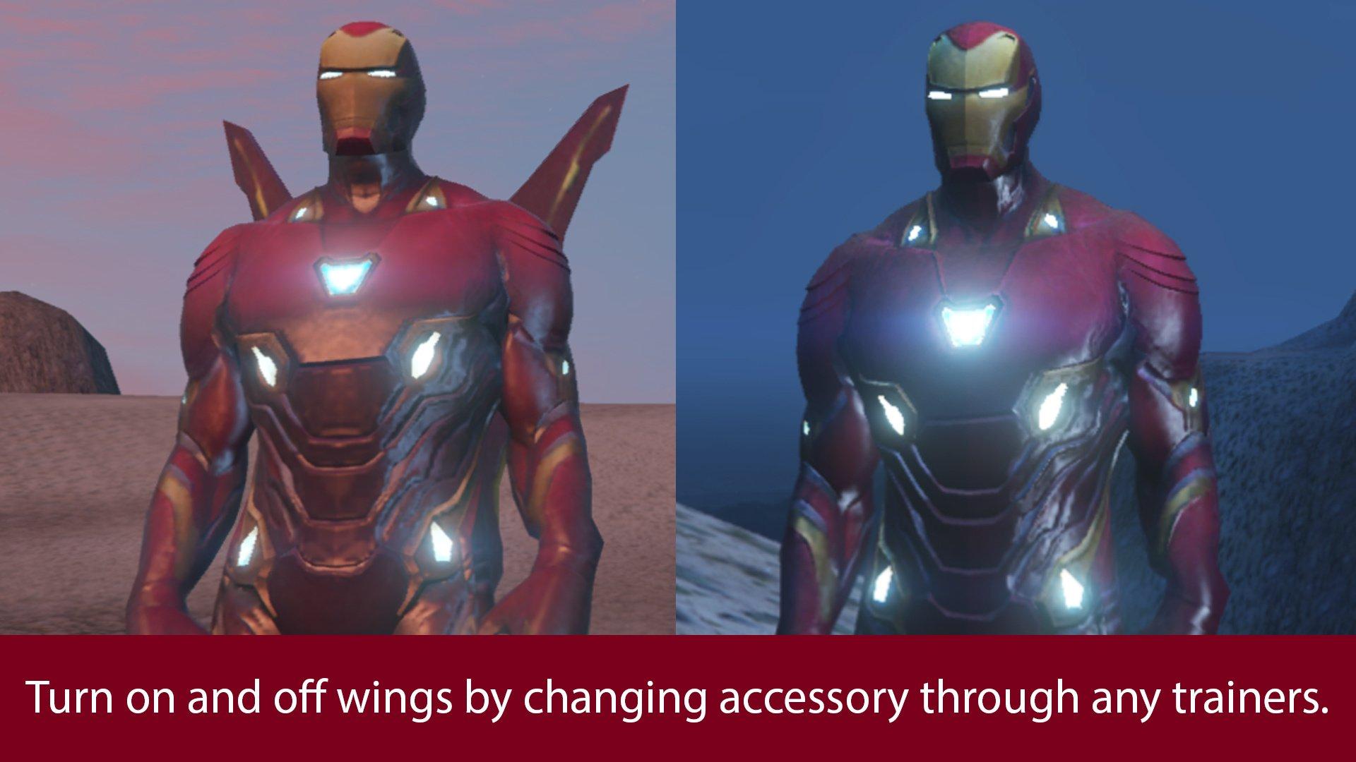Iron Man Mark 50 Mff Version Full Emissive Update Gta5 Mods Com