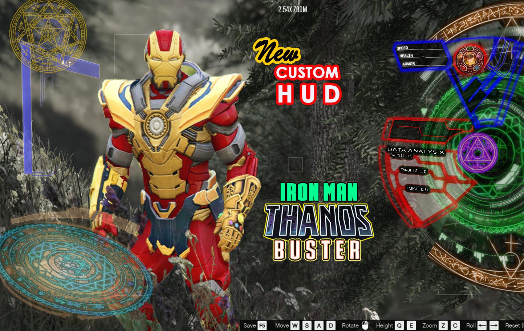 IRON MAN - THANOS BUSTER + CUSTOM HUD - GTA5-Mods com
