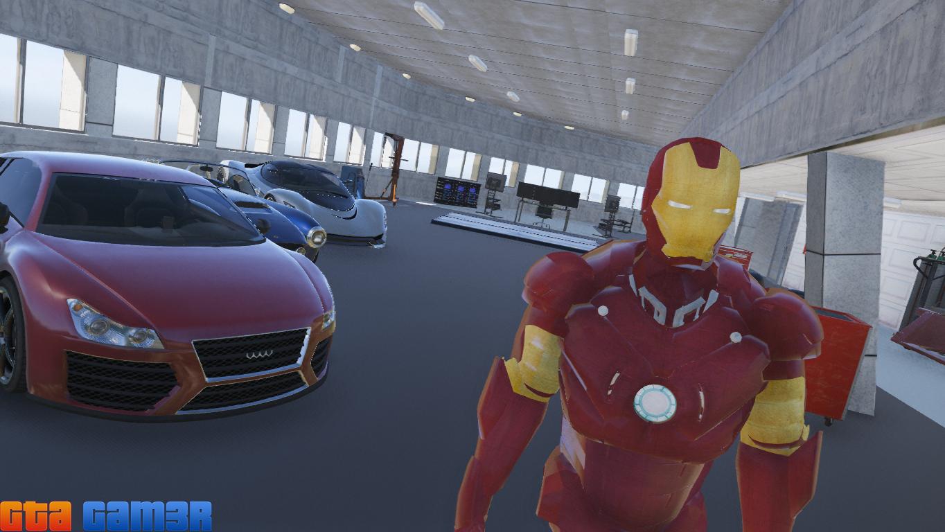 Iron man tony stark house gta5 for Garage tony auto