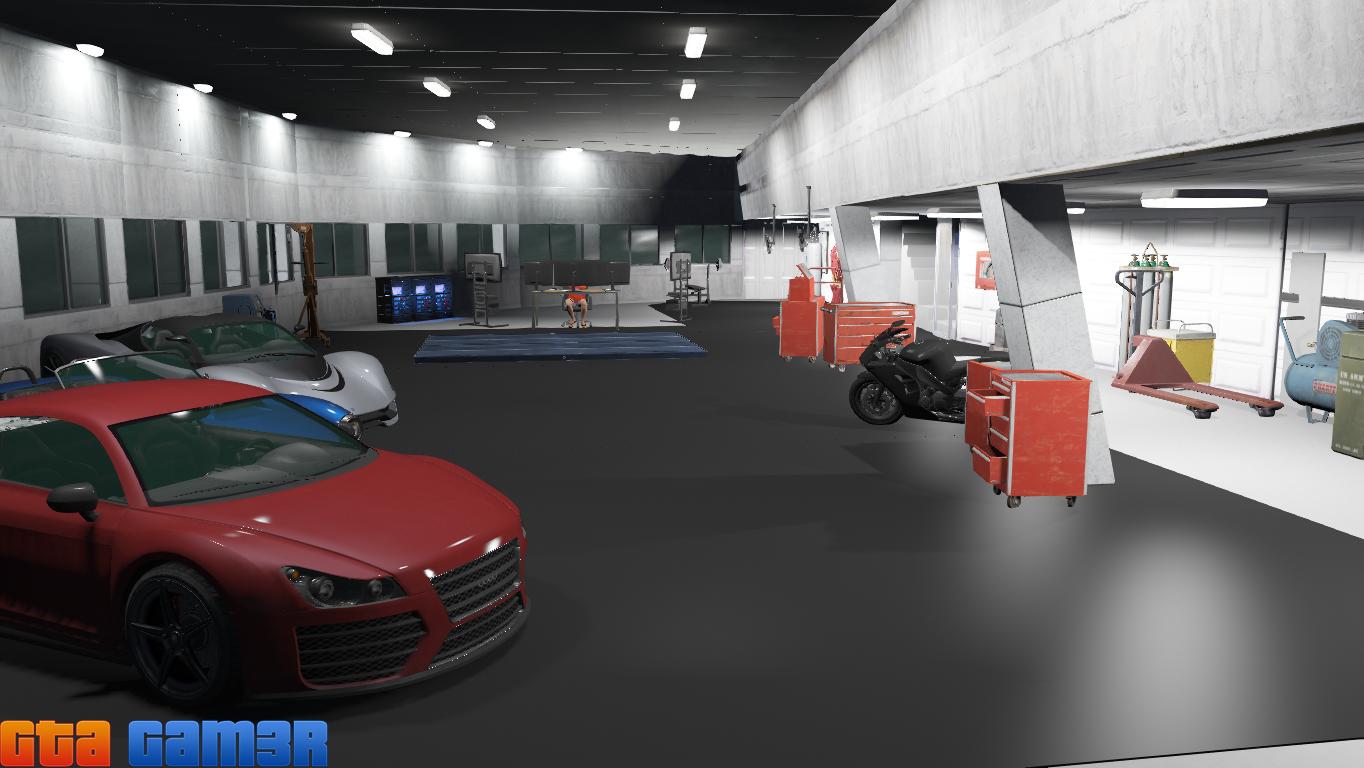Iron man tony stark house gta5 for Garage auto star antony
