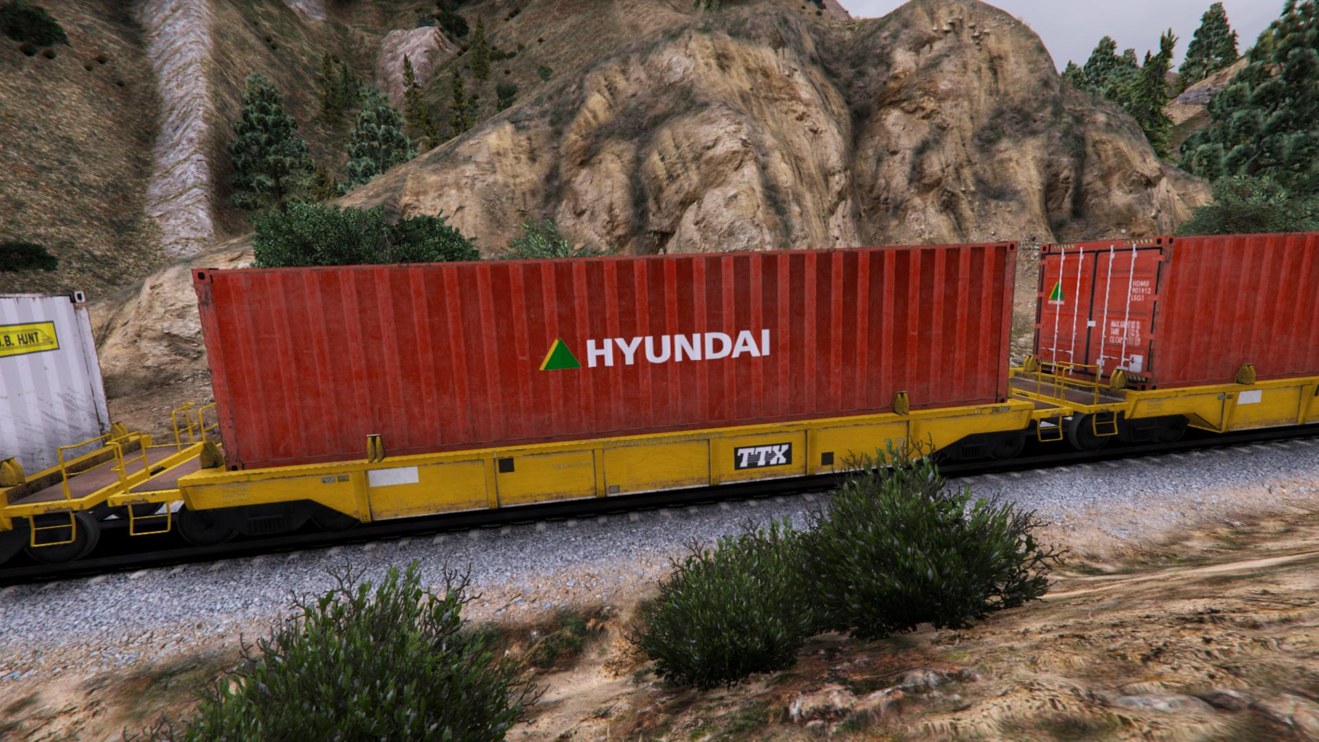 Freight Train Container And Container Car Reskins Gta5