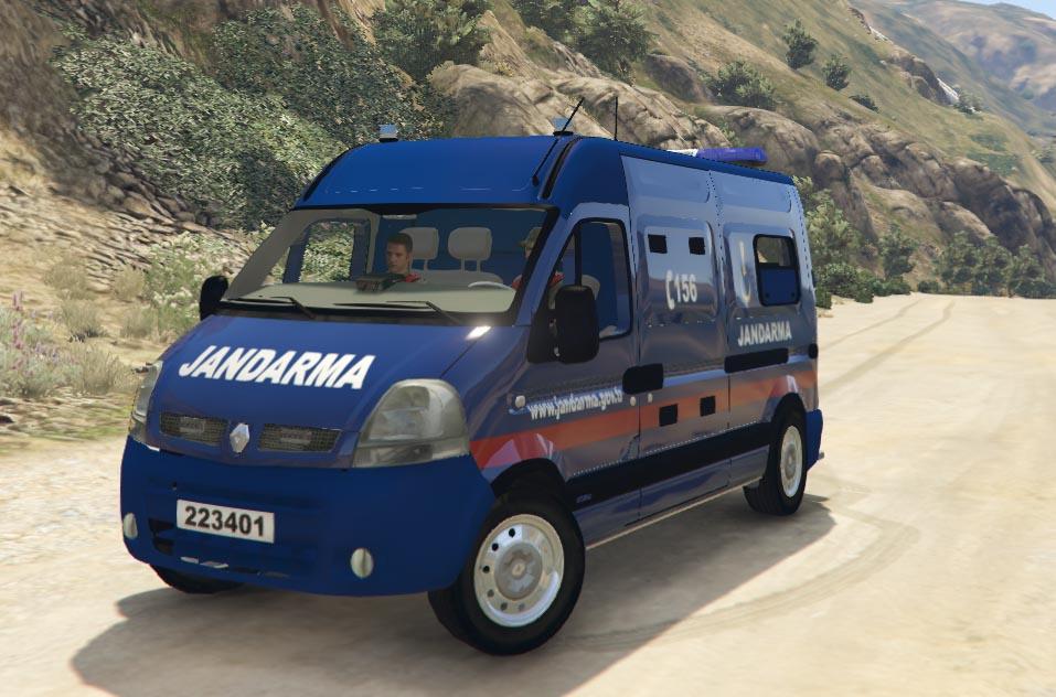 Jandarma Renault Master 4k Gta5 Modscom
