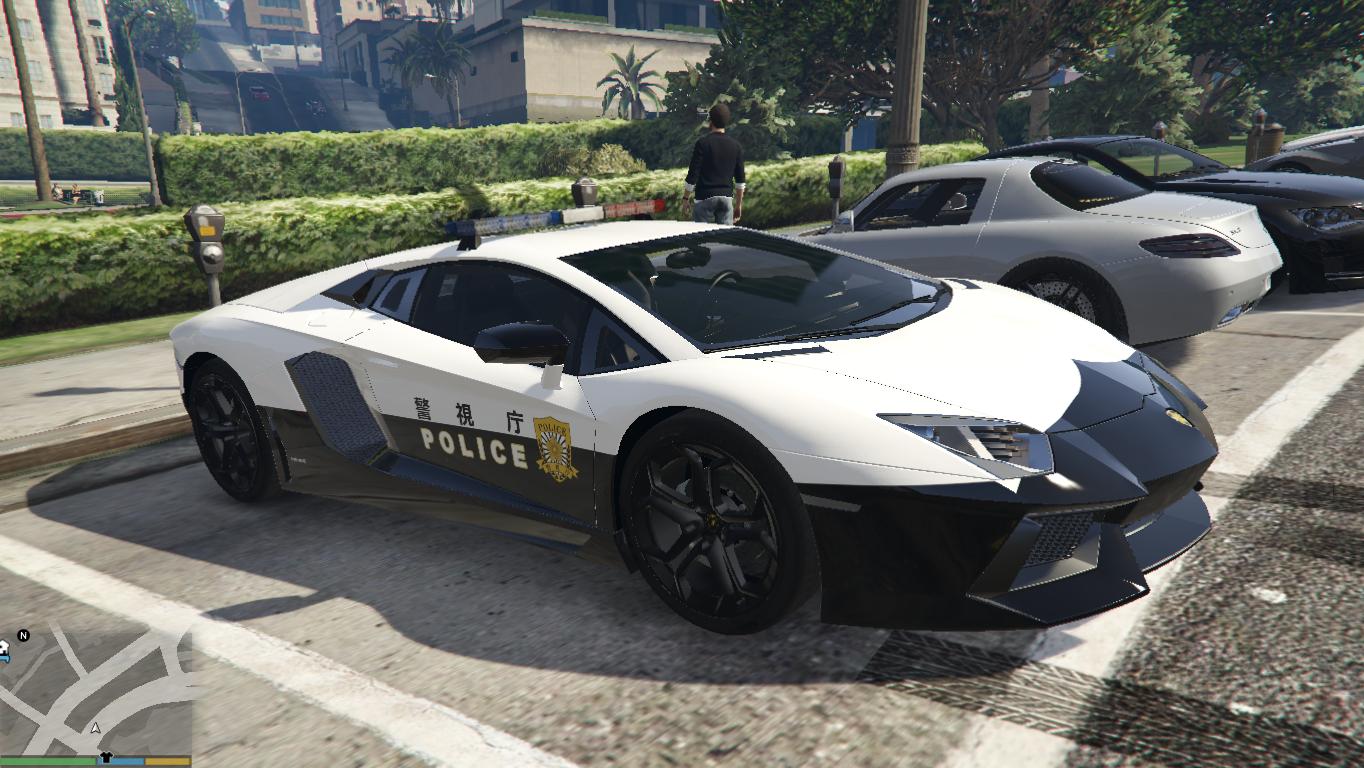 Japanese Police Lamborghini Aventador Gta5 Mods Com