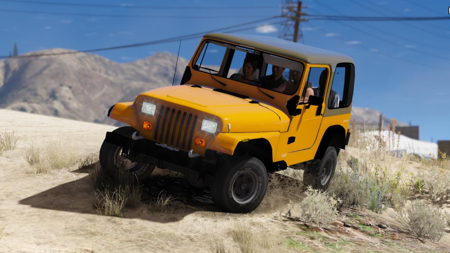 Jeep Wrangler 1986 Add On Replace Livery Extras