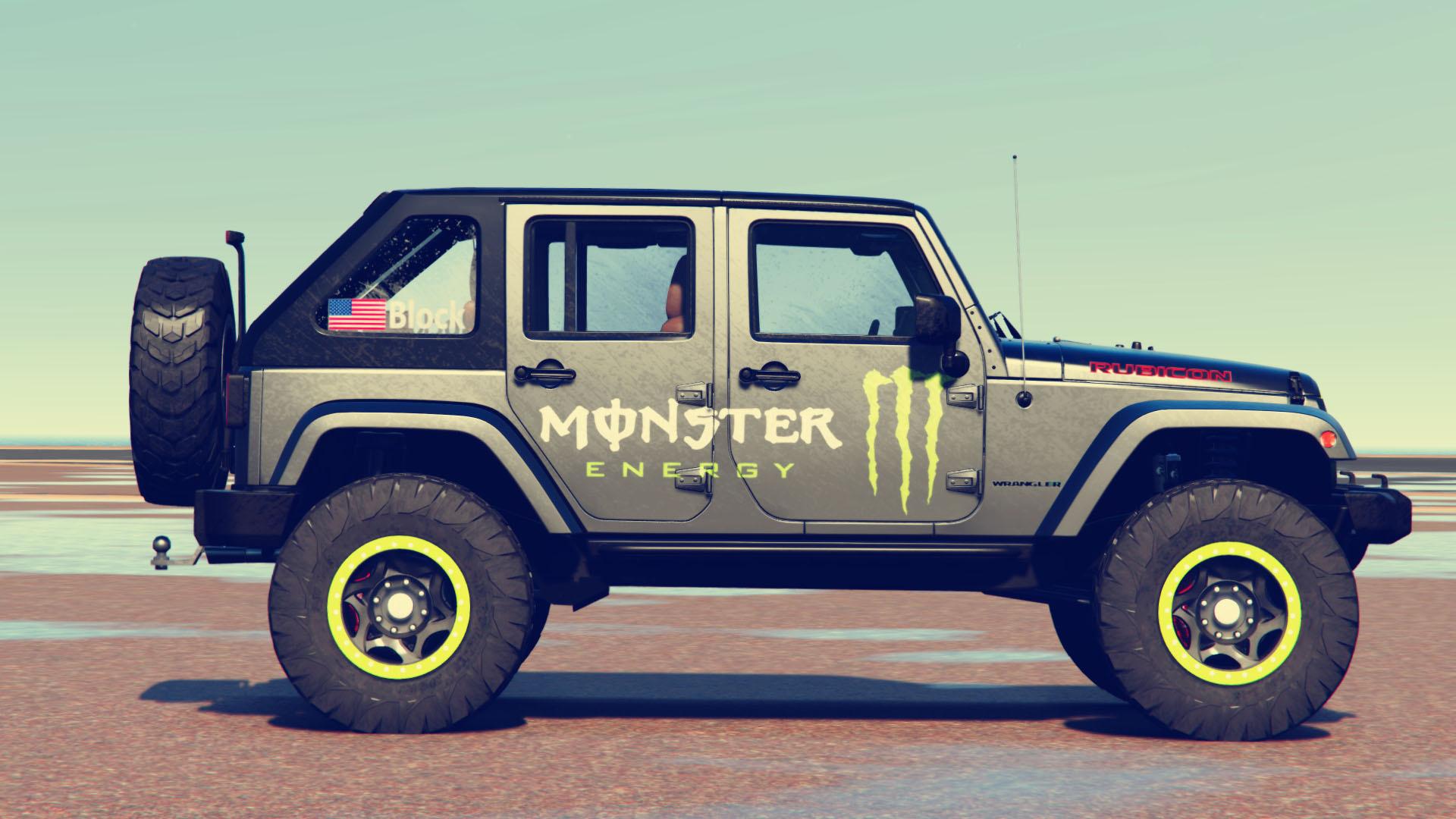 jeep wrangler 2012 rubicon monster livery gta5. Black Bedroom Furniture Sets. Home Design Ideas