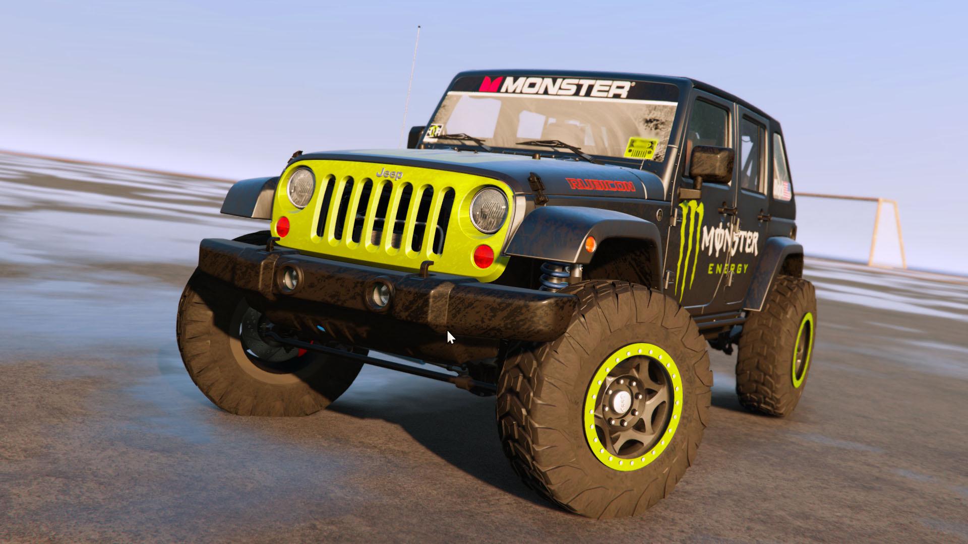 Jeep Wrangler 2012 Rubicon Monster livery GTA5 Mods