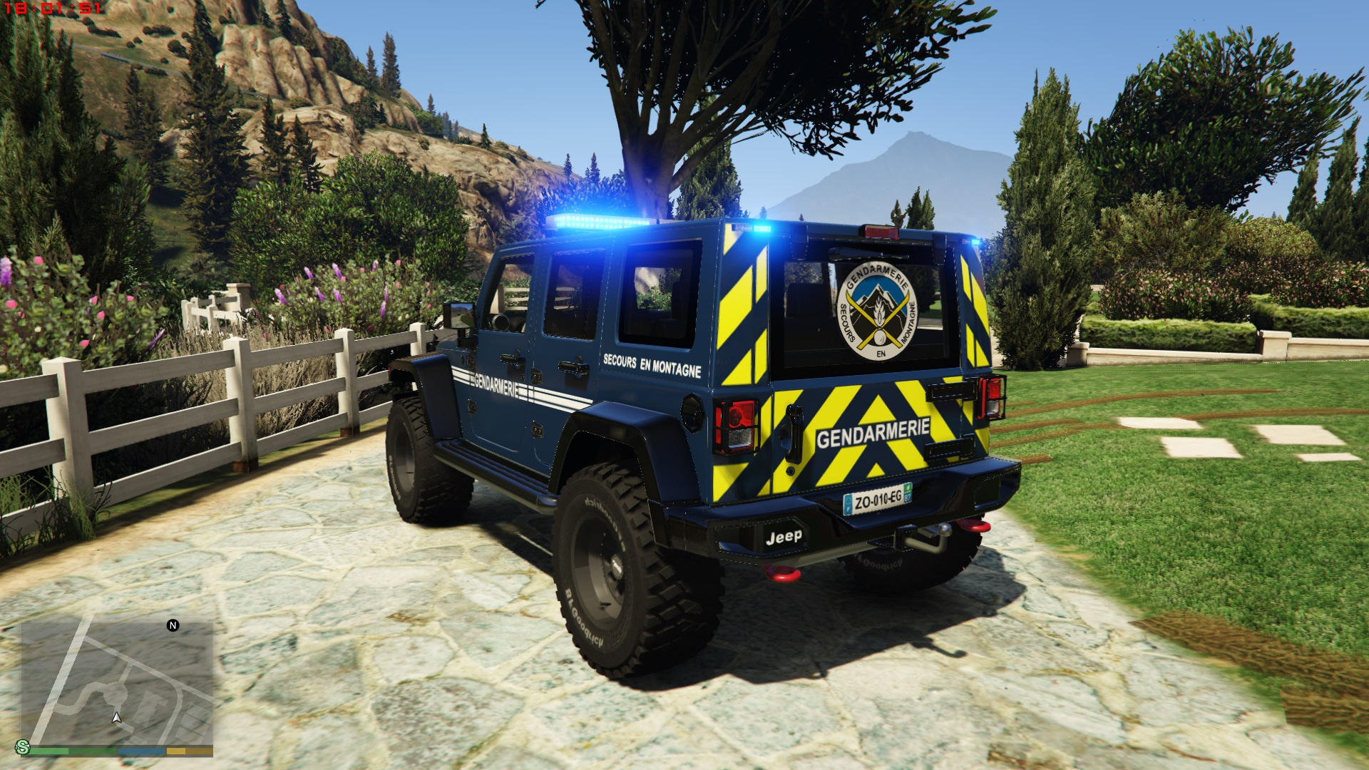 jeep wrangler 2014 french gendarmerie p g h m noels els gta5. Black Bedroom Furniture Sets. Home Design Ideas