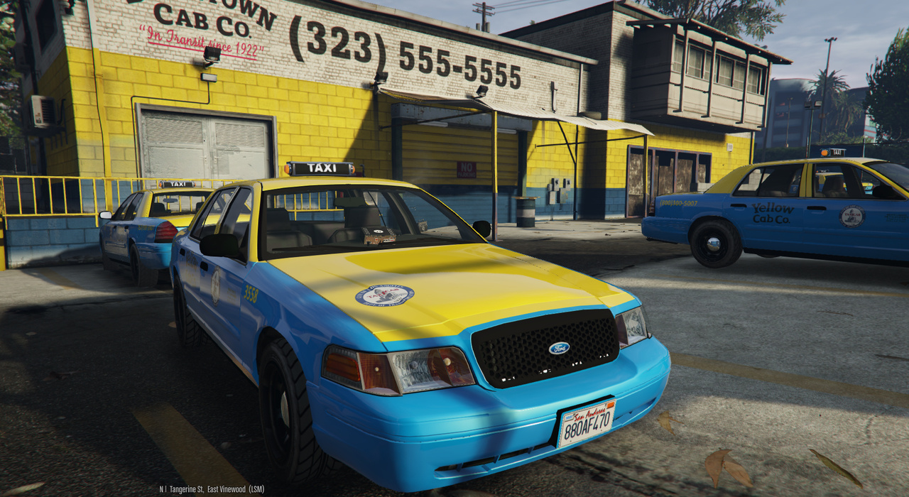 Los Angeles Ford Crown Victoria Taxi [4K] - GTA5-Mods com