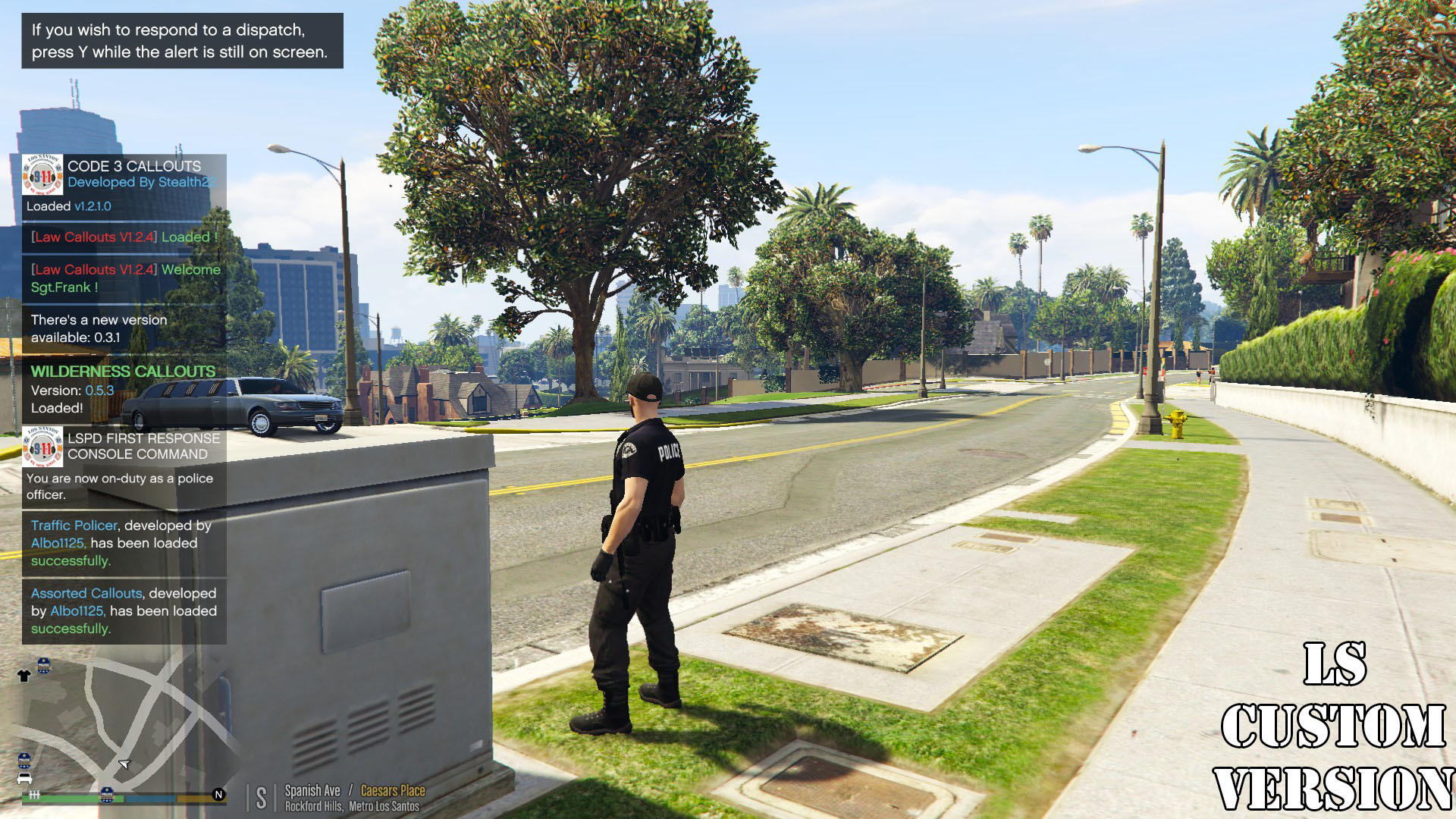 LA/LS Custom Emergency Services Blip & Callout Notification