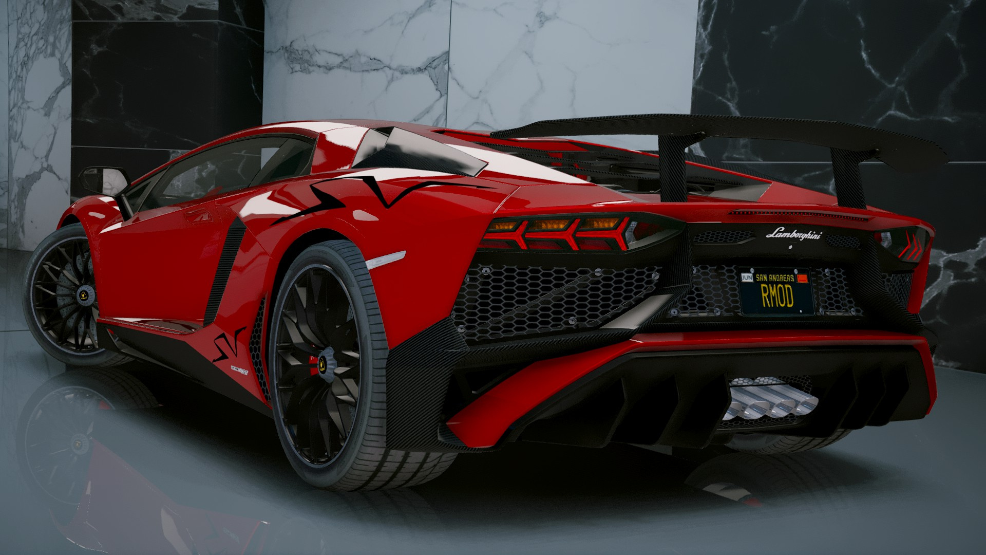 Lamborghini Aventador Lp 750 4 Sv 2015 Add On Gta5