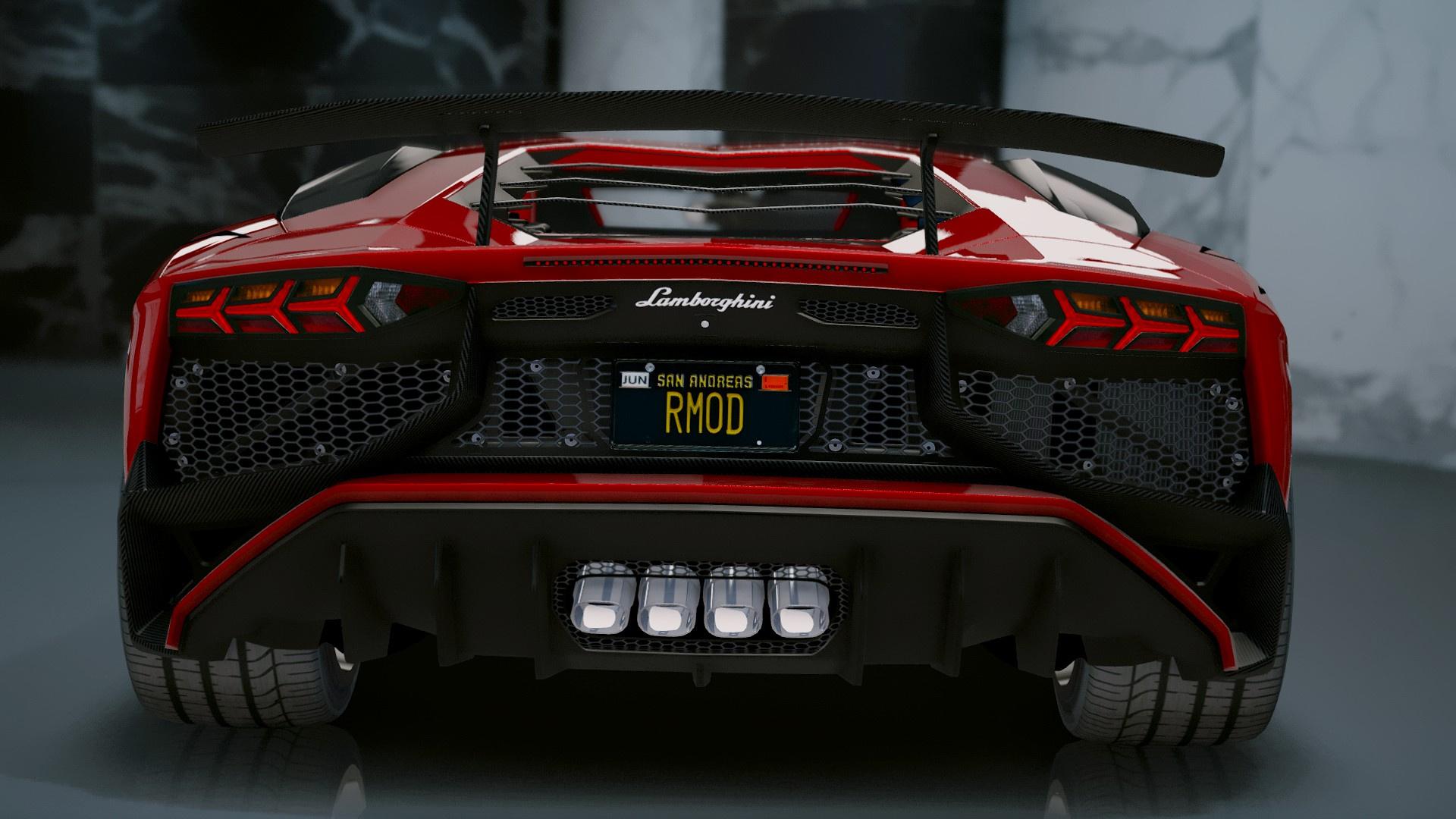 Lamborghini Aventador Lp 750 4 Sv 2015 Add On Gta5