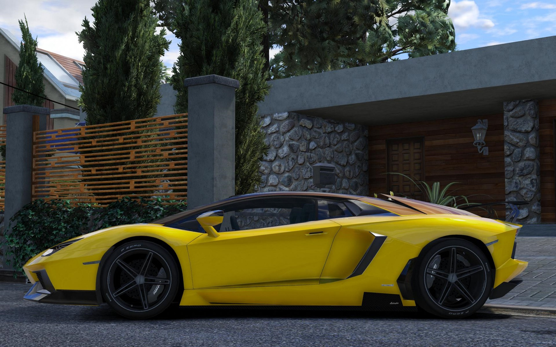 lamborghini aventador lp700 4 2 tone paintjob gta5. Black Bedroom Furniture Sets. Home Design Ideas