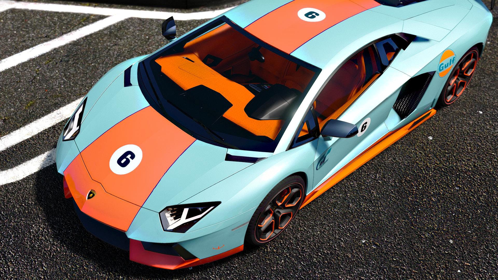 lamborghini aventador lp700 4 gulf addon gta5. Black Bedroom Furniture Sets. Home Design Ideas