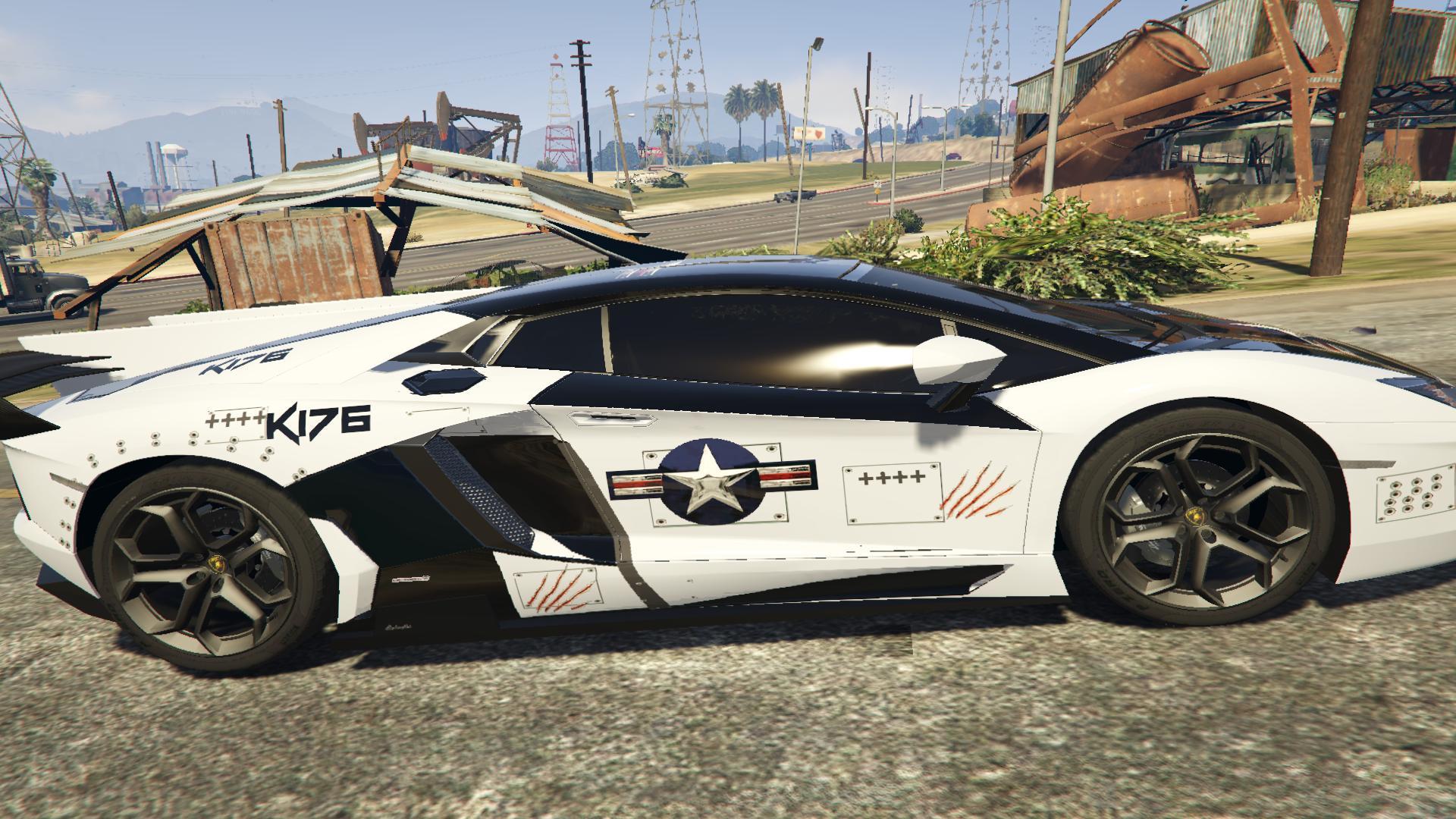 Lamborghini Aventador Us Air Force Gta5 Mods Com