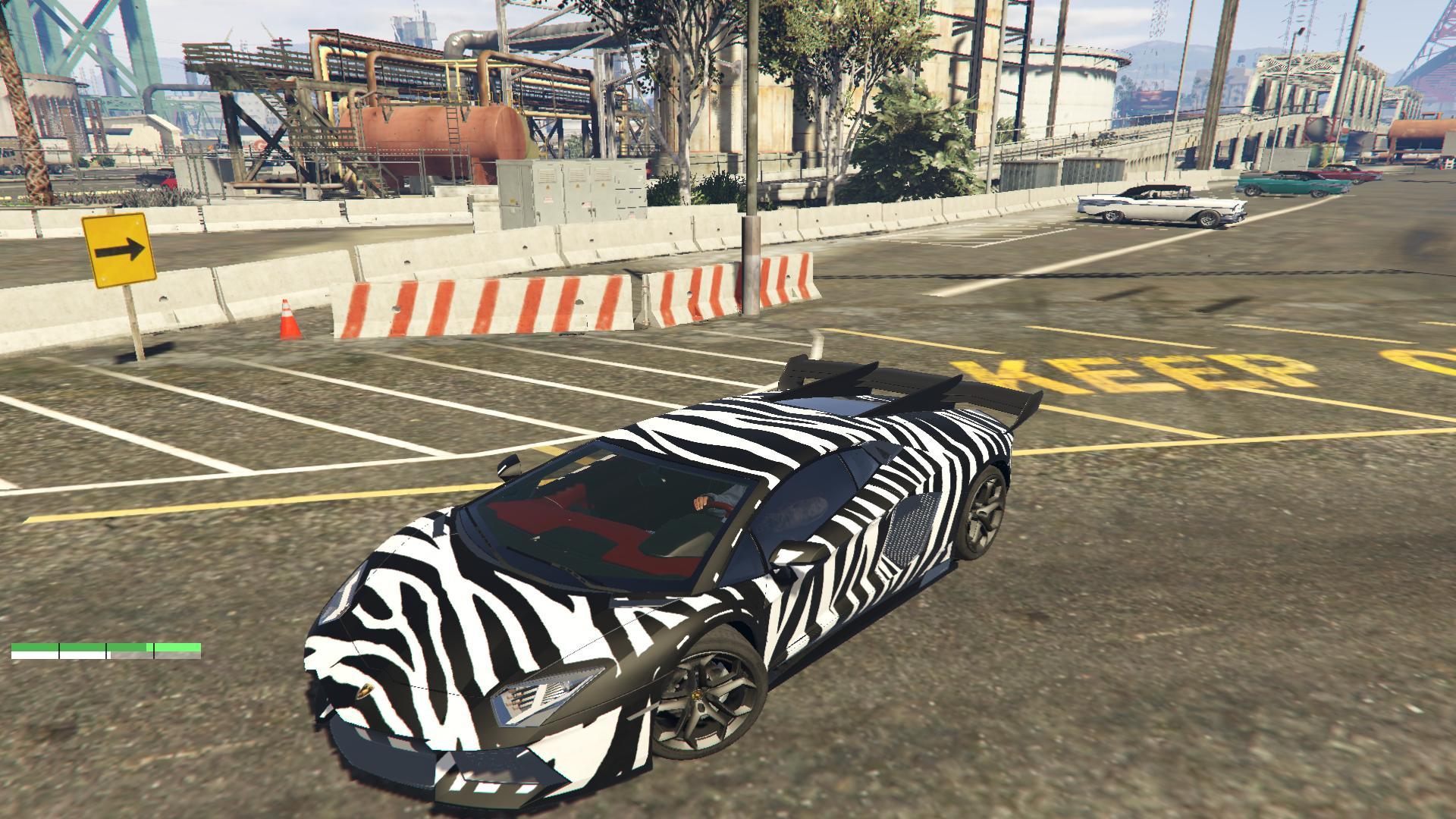 Lamborghini Aventador Zebra Skin