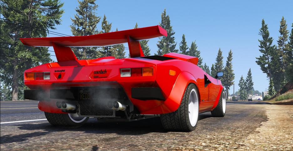 Lamborghini Countach Qv 1988 Us Spec Add On Tuning Gta5 Mods Com