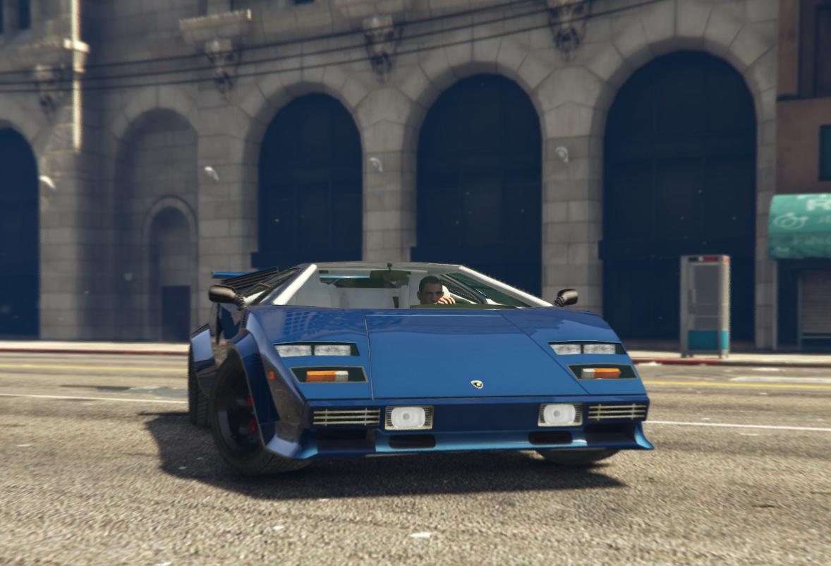 Lamborghini Countach Qv Targa Add On Tuning Gta5 Mods Com