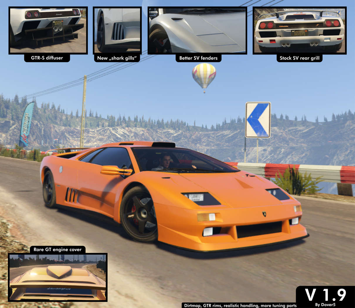 Lamborghini Diablo Gtr Add On Tuning Template Gta5