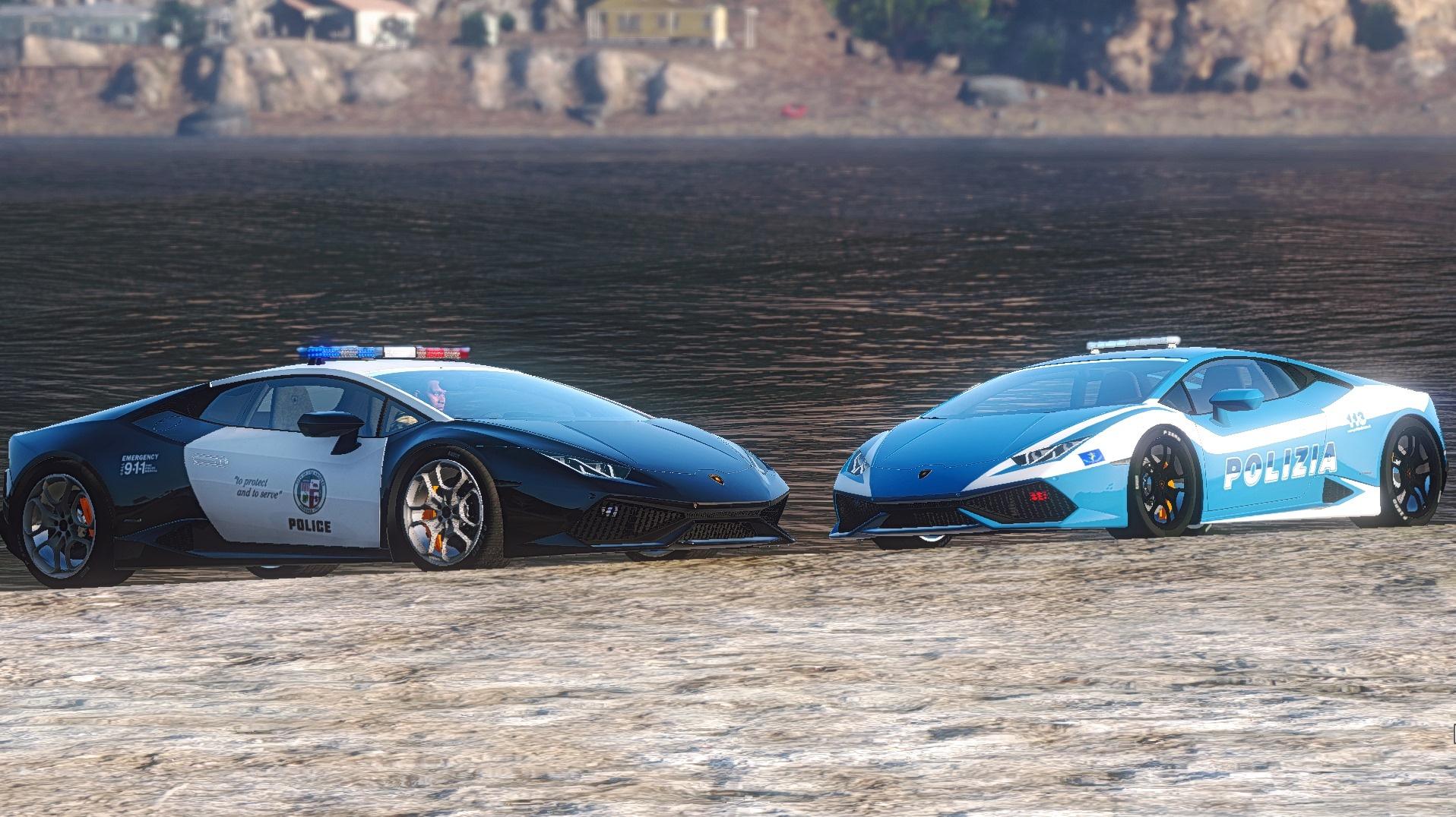 Lamborghini Huracan Italian Police And Lapd Template Gta5 Mods Com