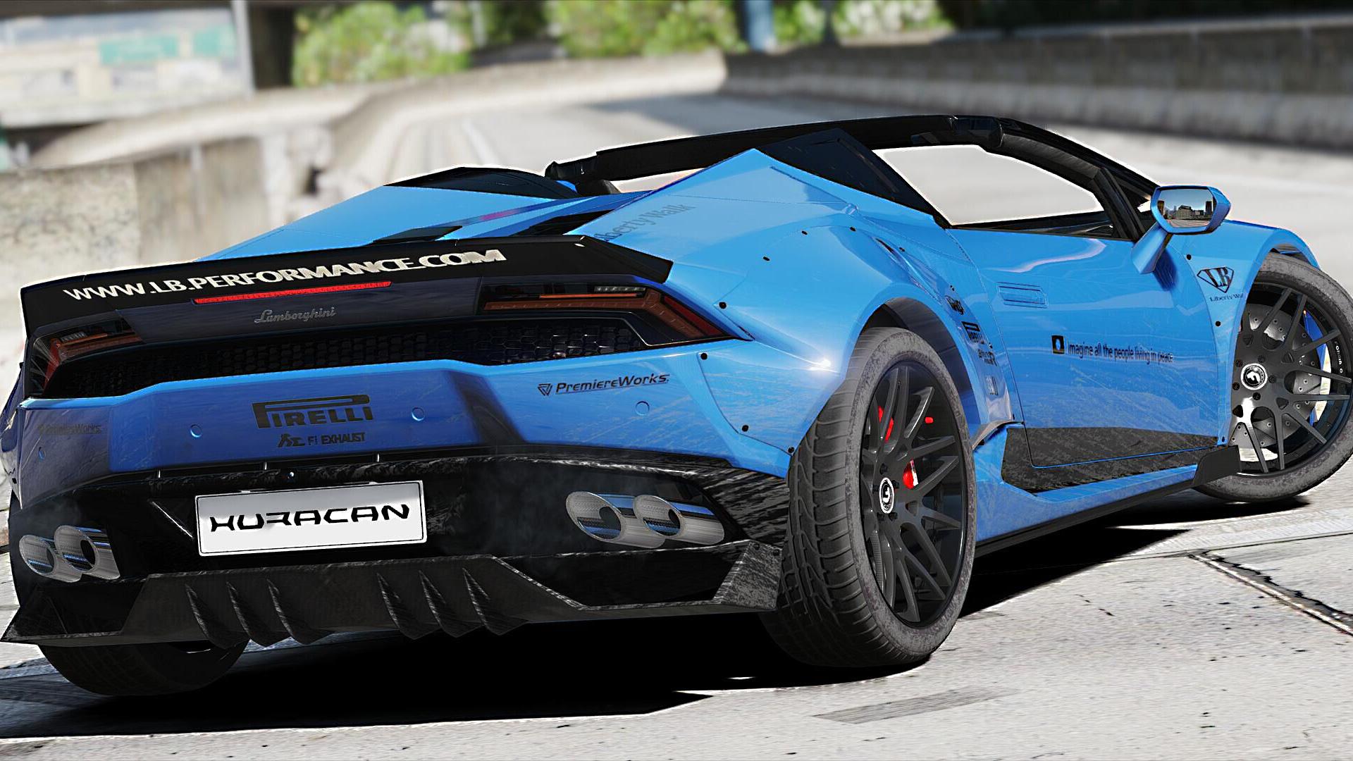 Lamborghini Huracan Spyder Liberty Walk Paintjob GTA5