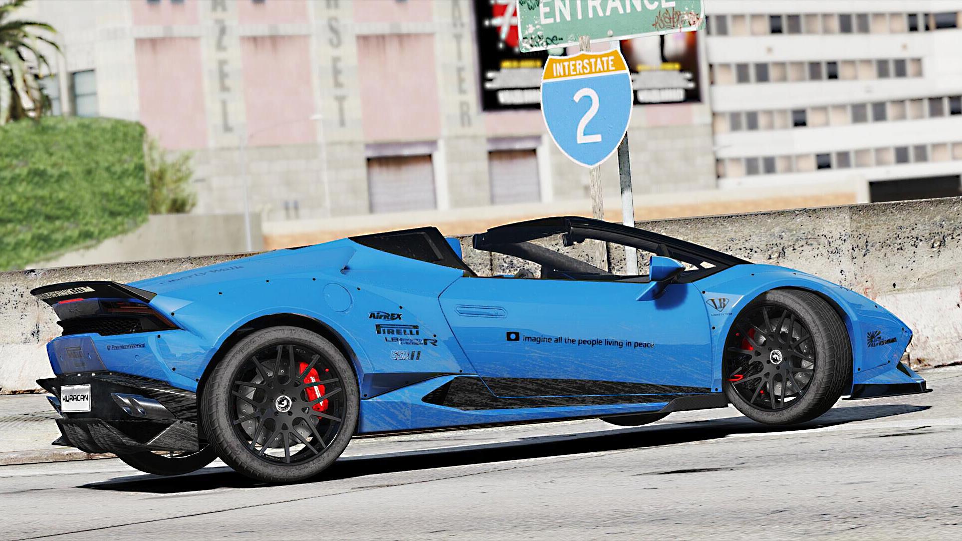 Lamborghini Huracan Spyder Liberty Walk Paintjob Gta5 Mods Com