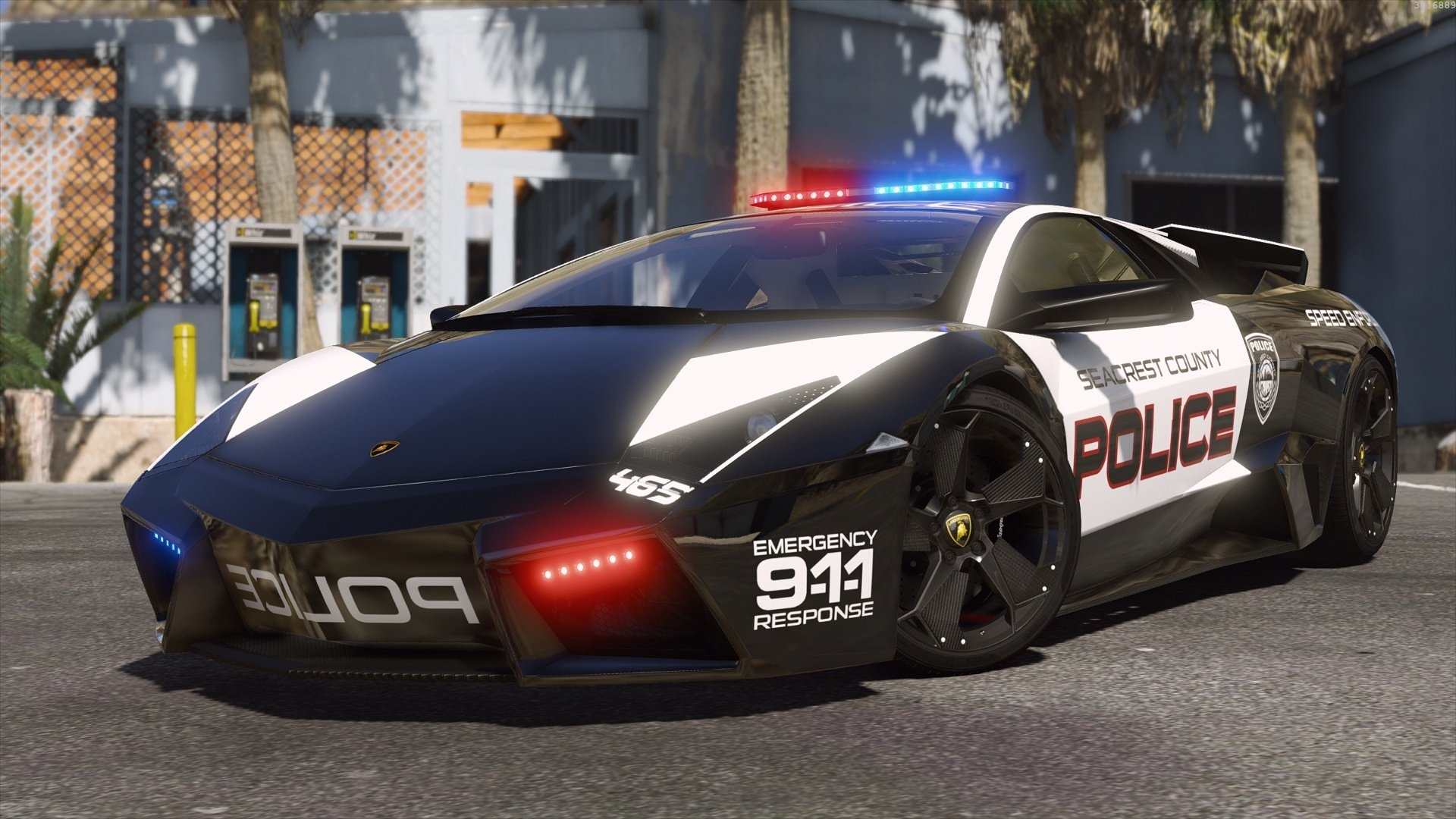 Lamborghini Reventon Hot Pursuit Police Autovista Add On Replace Wipers Template