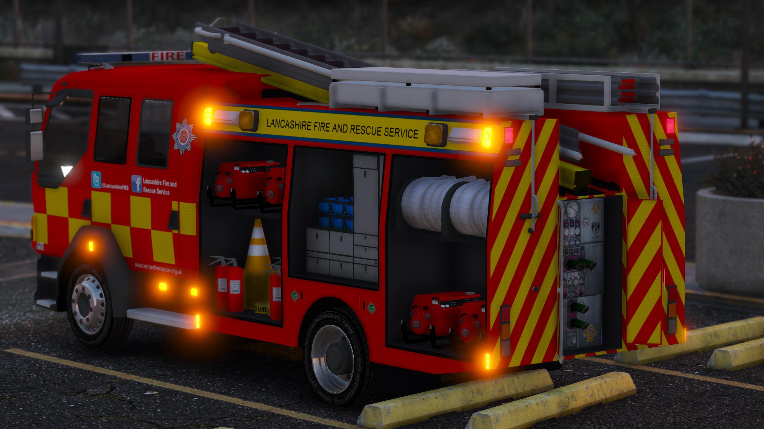 Lancashire Fire Amp Rescue Fire Appliance Gta5 Mods Com
