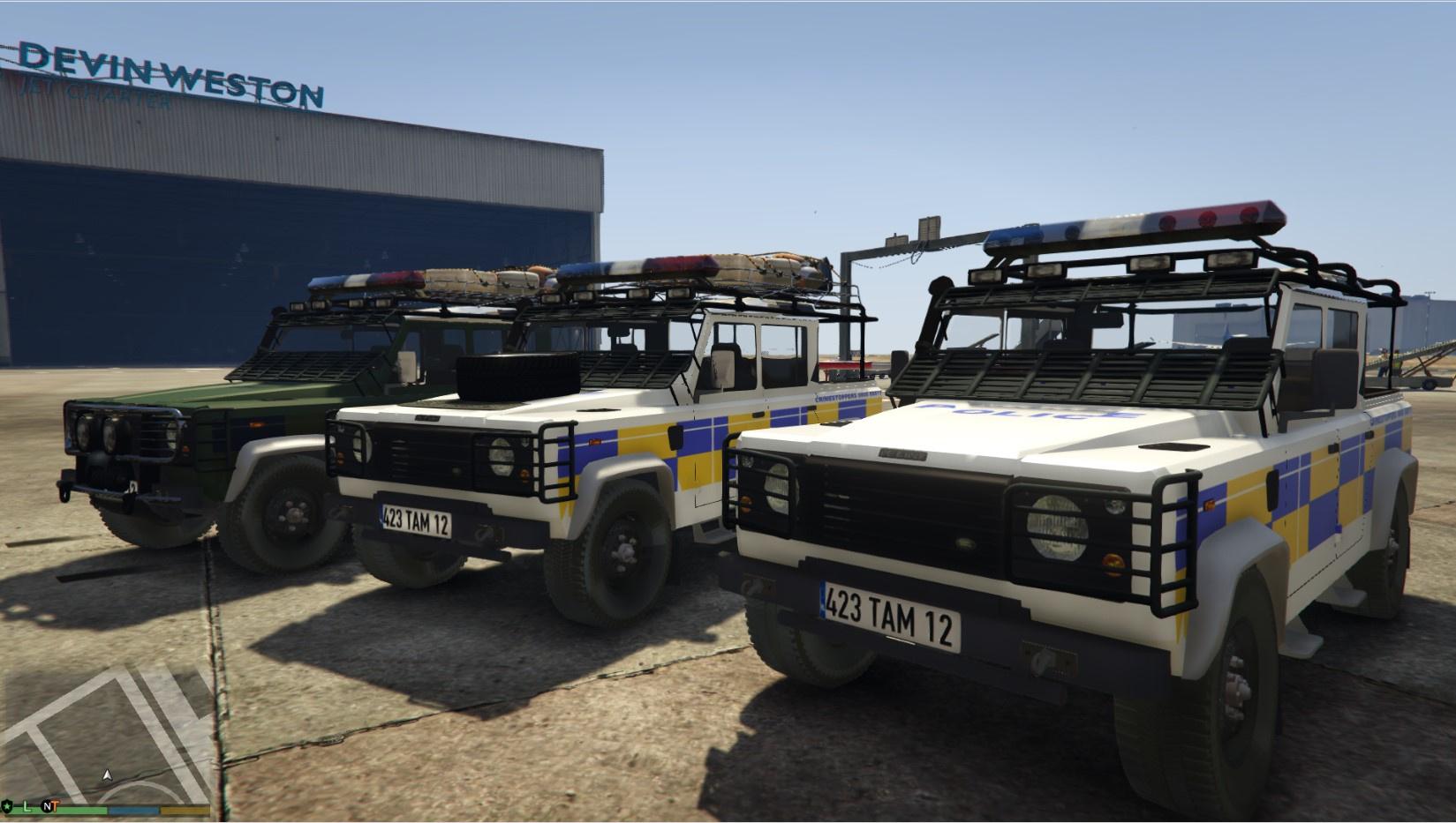 Land Rover Defender 110 Pickup Irish Police Unlocked