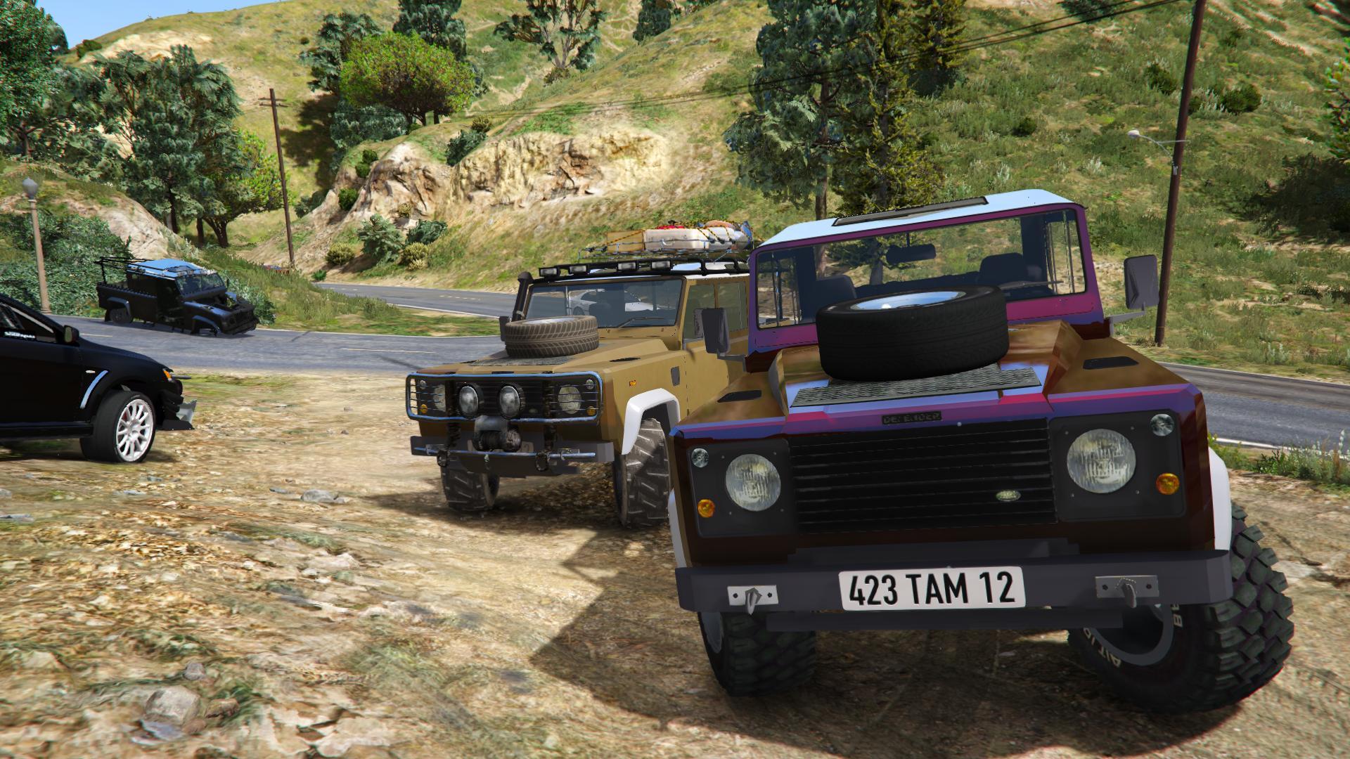 Land Rover Defender 110 Pickup Unlocked Gta5 Mods Com
